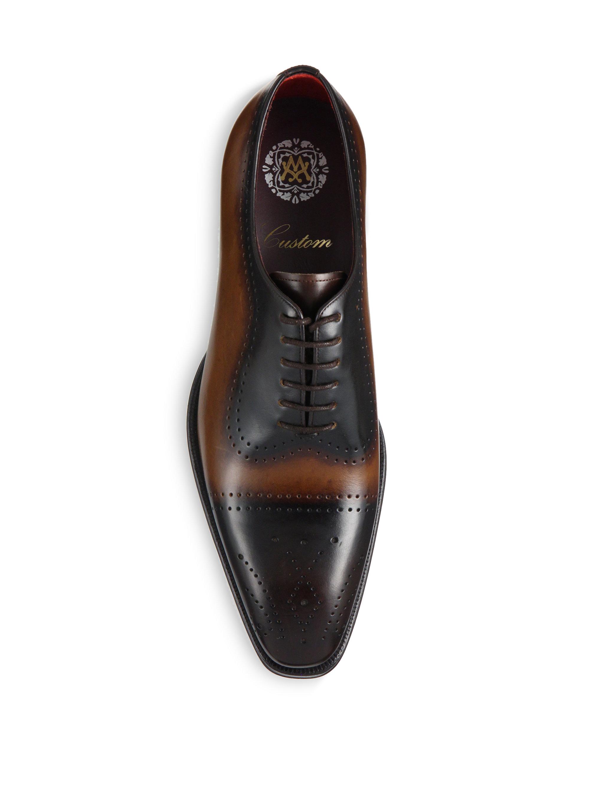 Lyst Mezlan Paolino Leather Derby Shoes In Black For Men