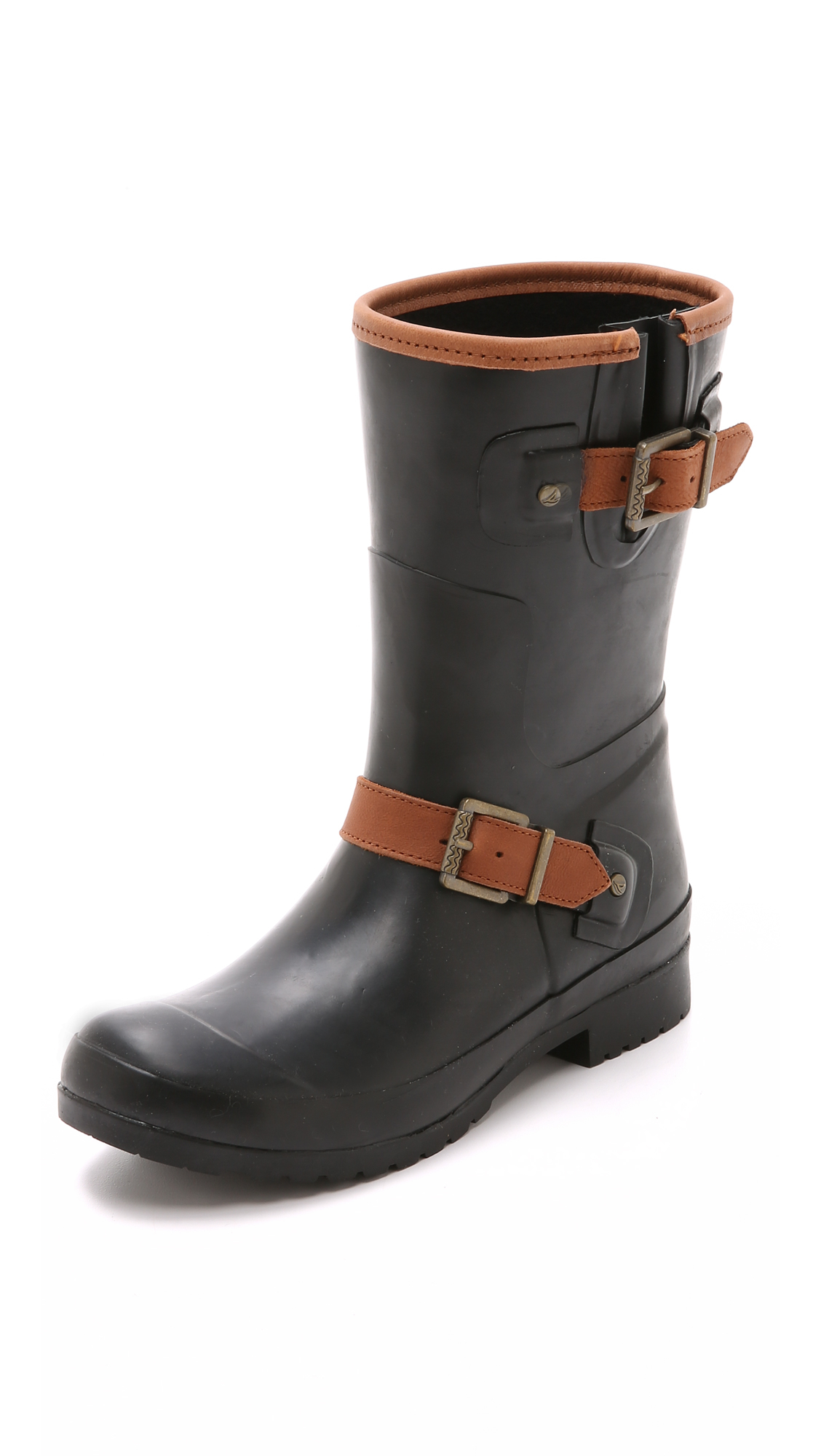 Sperry top-sider Walker Fog Rain Boots - Black in Black | Lyst