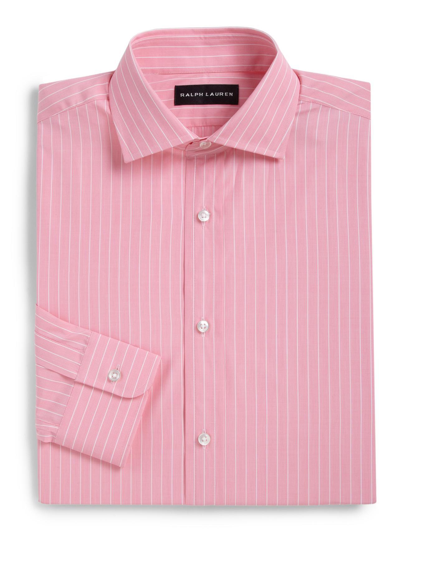 Ralph lauren black label classic fit striped dress shirt for Mens dark pink dress shirt