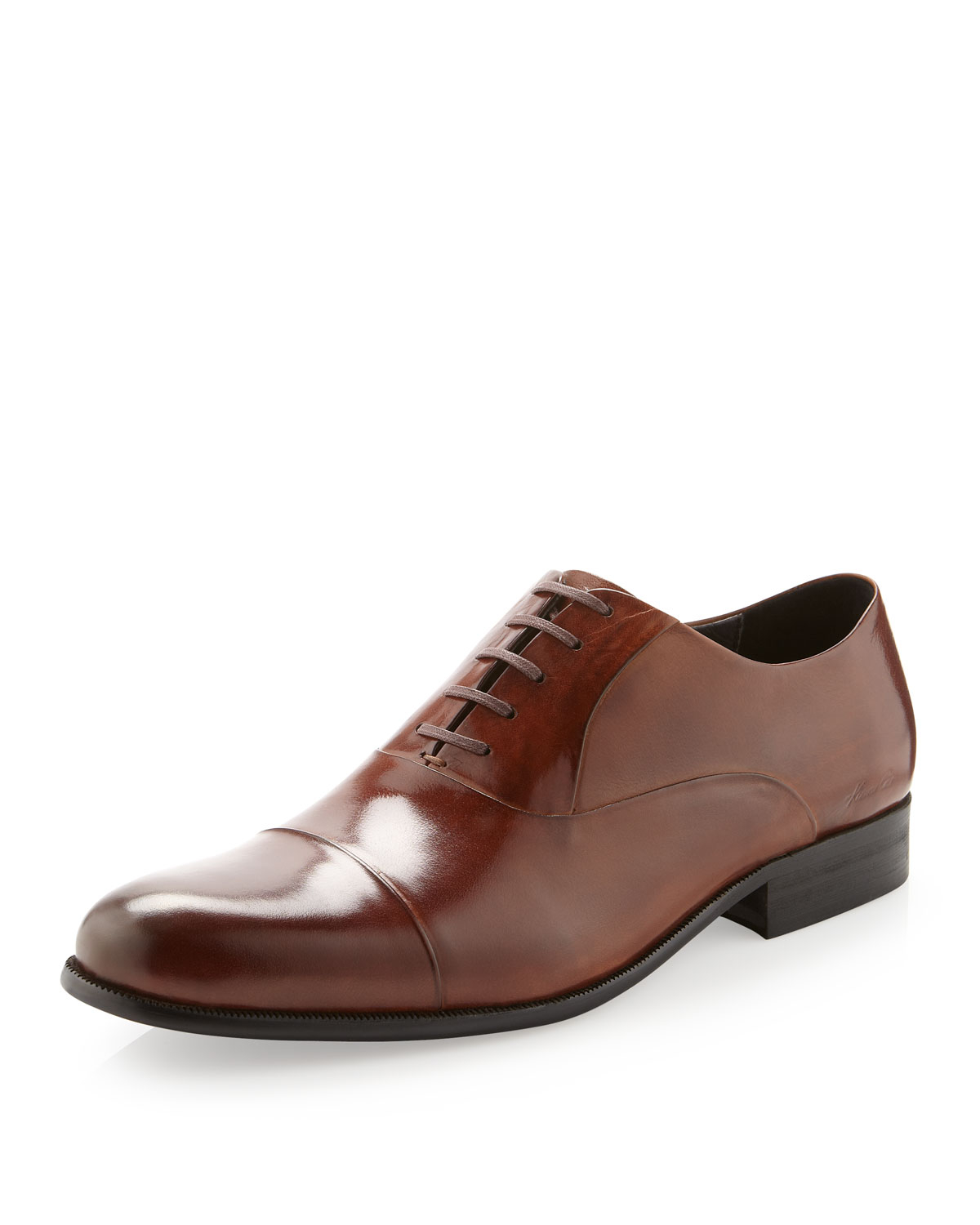 544d4137adfccd Lyst - Kenneth Cole Chief Executive Oxford Shoe Cognac in Brown for Men