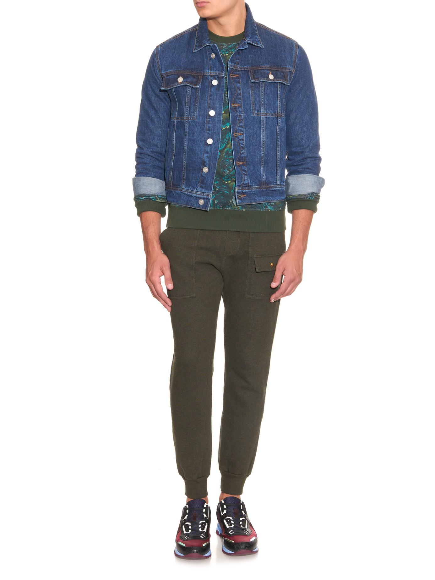Kenzo Embroideredback Denim Jacket In Blue For Men  Lyst