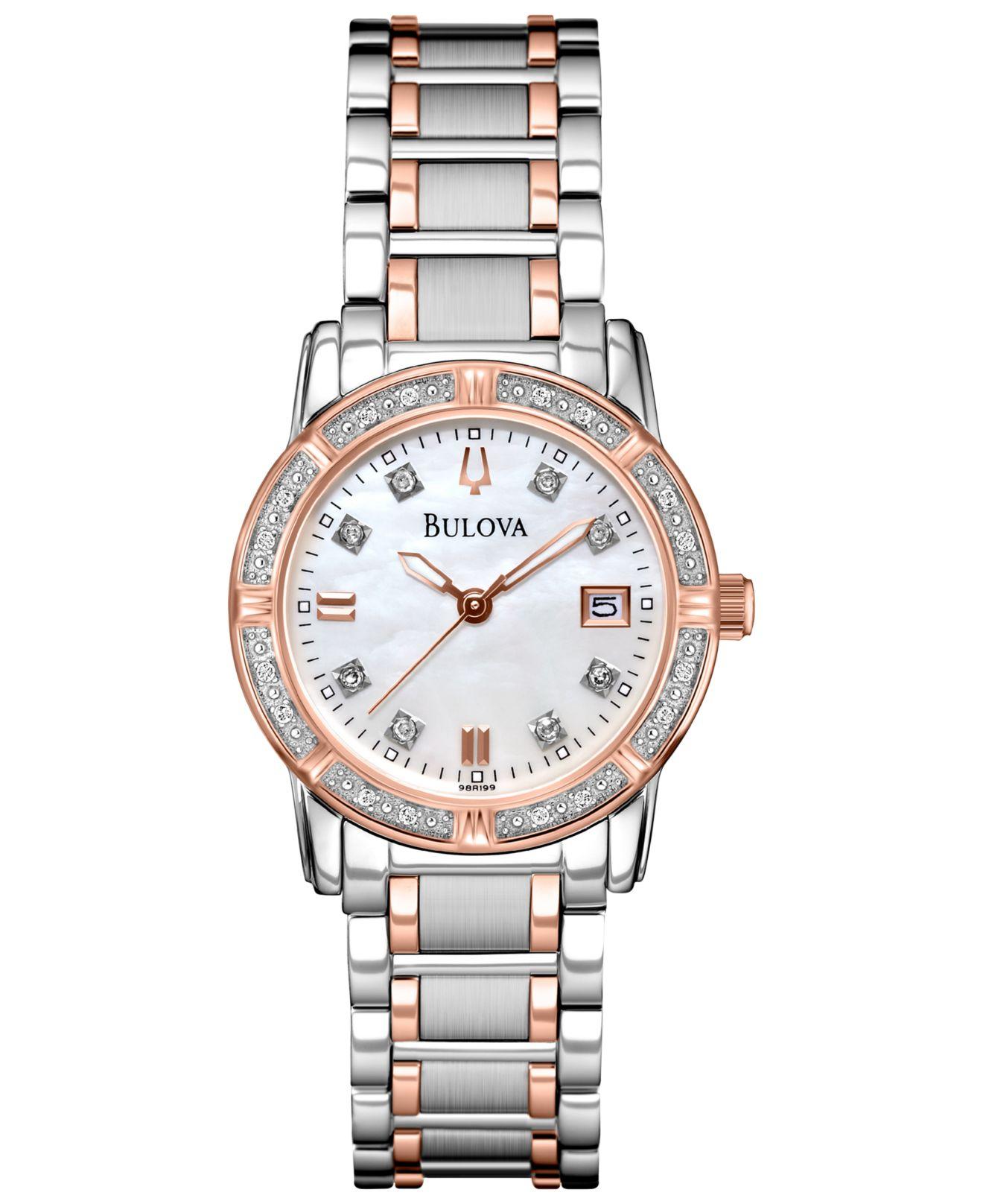 Bulova Women's Diamond Accent Two-tone Stainless Steel ...