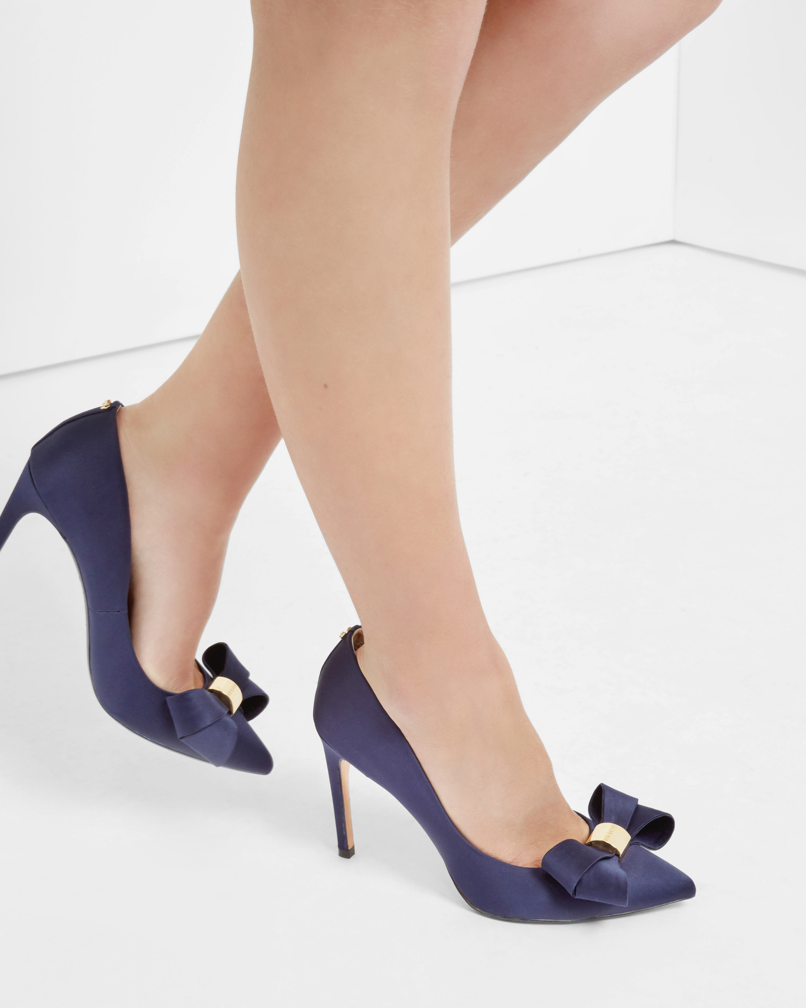 bf8dbd5316ba75 AlternateText new cheap  Ted Baker Statement Bow Court Shoes in Blue - Lyst  san francisco b7768 f332d ...