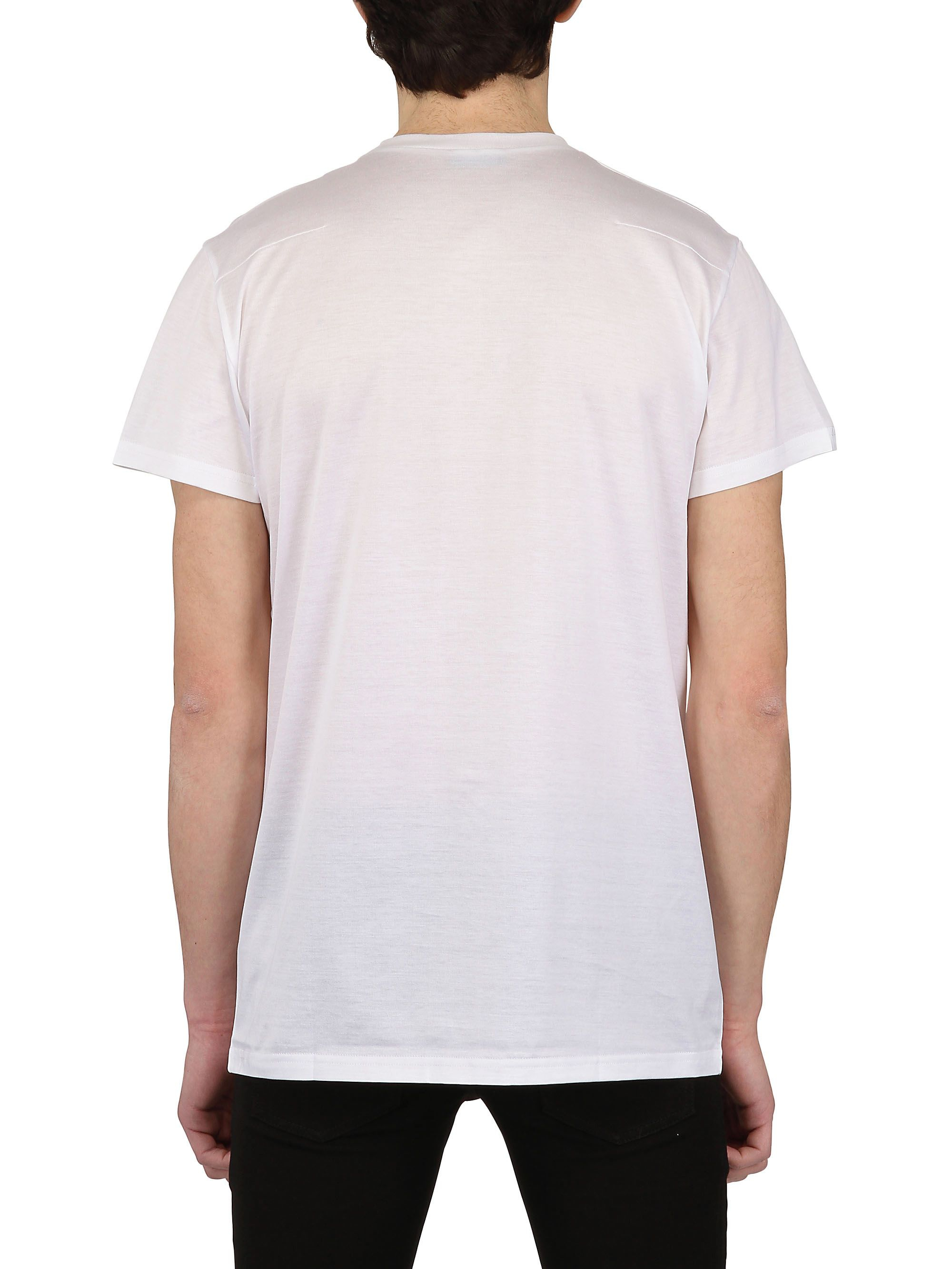dior homme bee embroidered jersey t shirt in white for men lyst. Black Bedroom Furniture Sets. Home Design Ideas