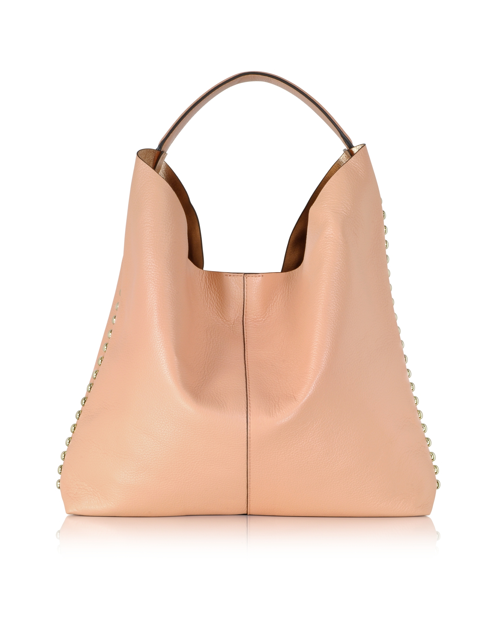 Rebecca minkoff Unlined Apricot Leather Hobo Bag in Metallic | Lyst