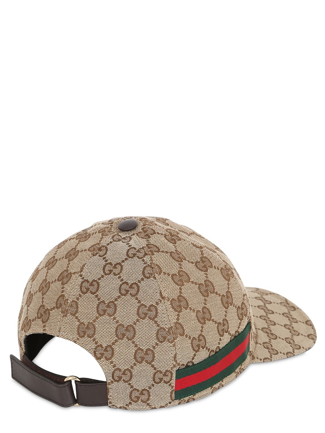 297d3b2dae8 Lyst - Gucci Web   Gg Jacquard Baseball Hat in Natural for Men