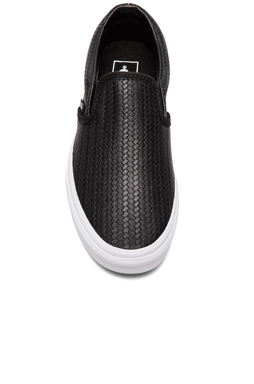 1c45c9452b Lyst - Vans Embossed Weave Classic Slip On in Black