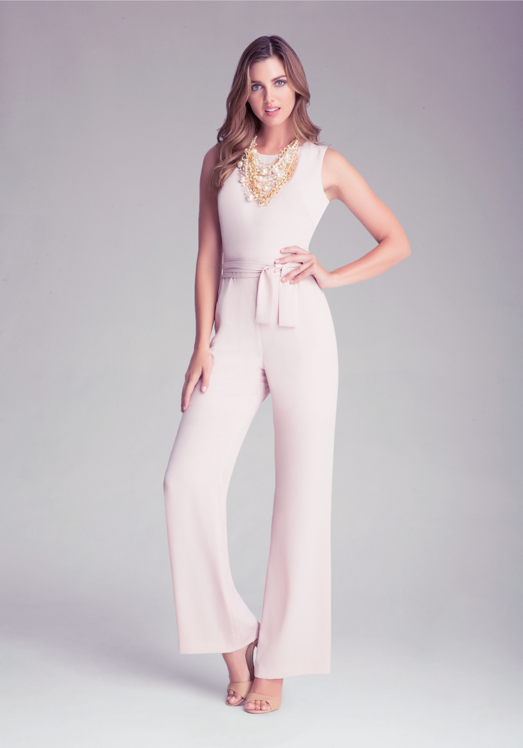 6f36a22f6df Lyst - Bebe Kelly Jumpsuit in Pink