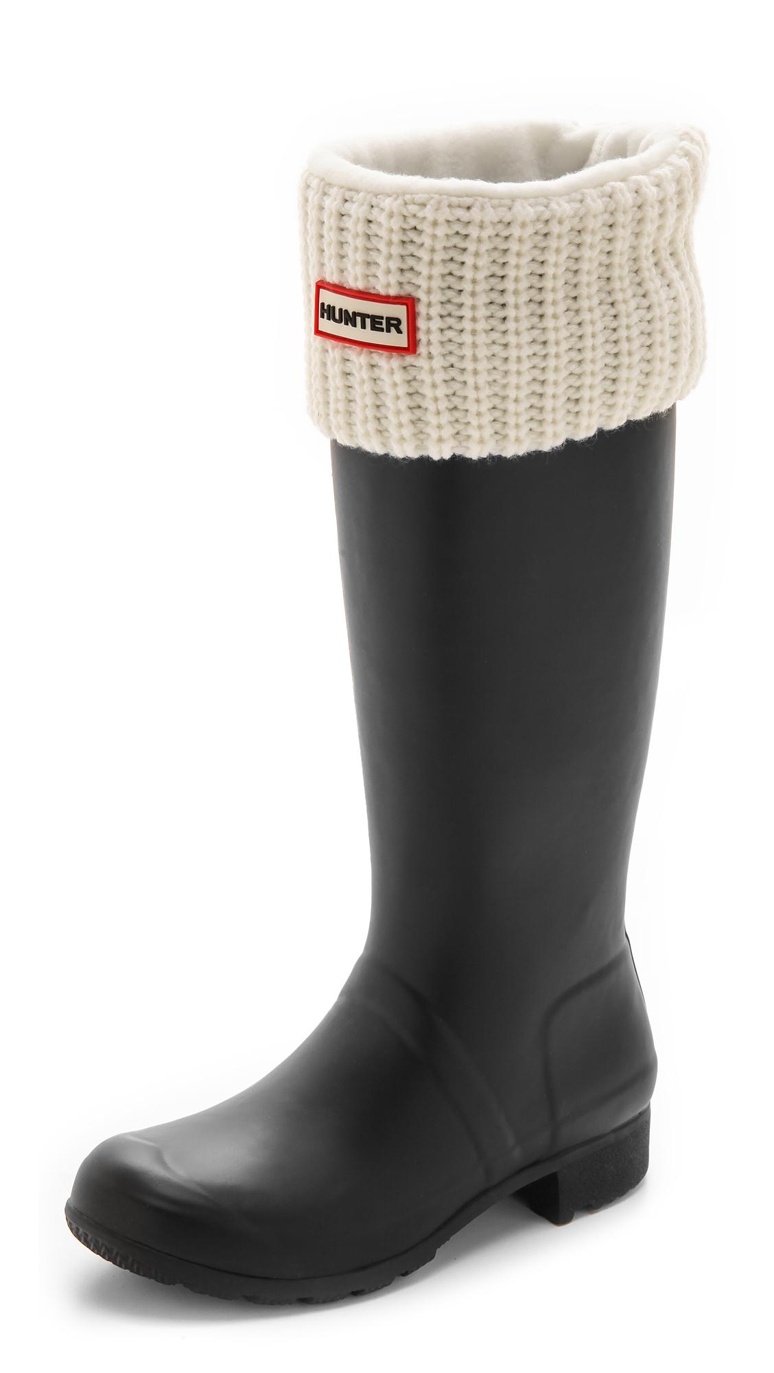 stable quality durable service sold worldwide HUNTER White Half Cardigan Boot Socks - Slate