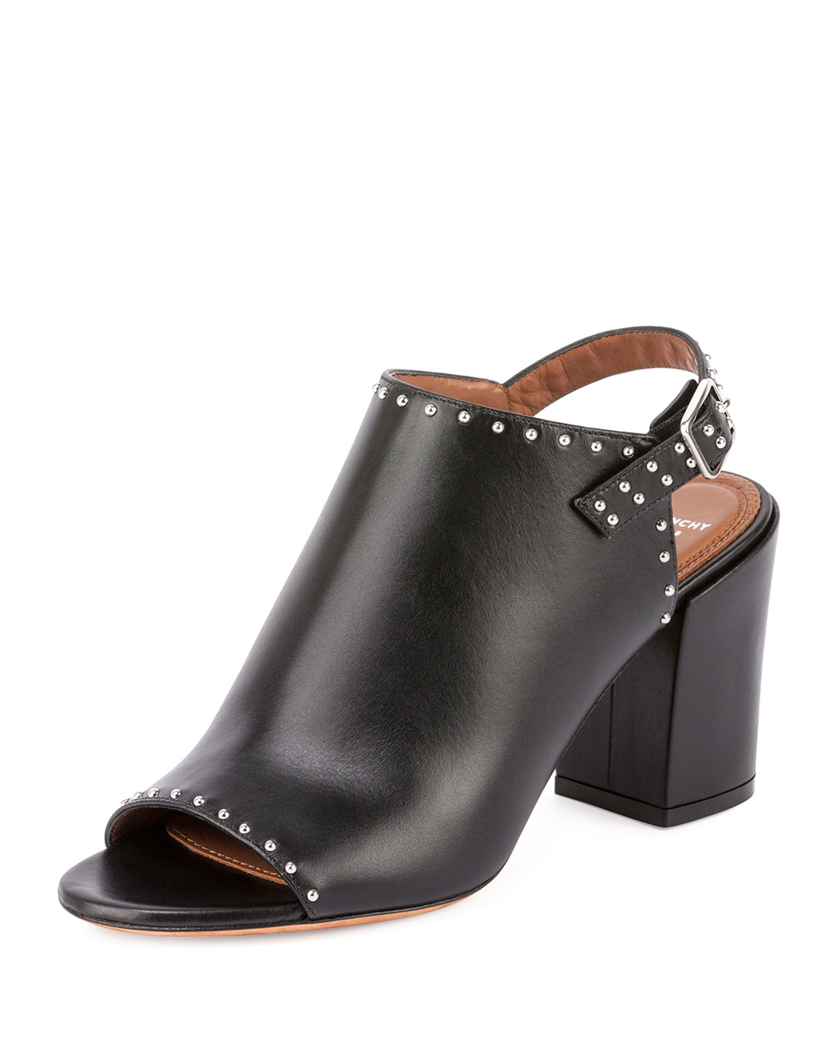 Givenchy Studded Leather Slingback Mule in Black