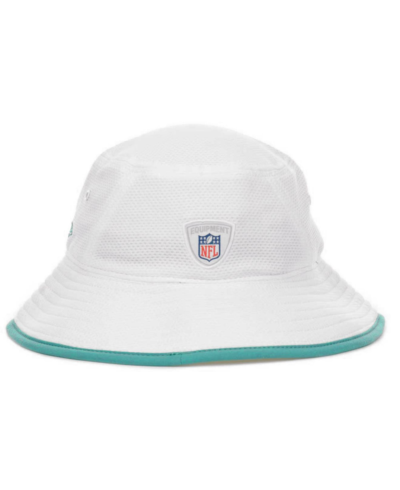 Lyst - KTZ Miami Dolphins Training Camp Bucket Hat in White 886e457156d7