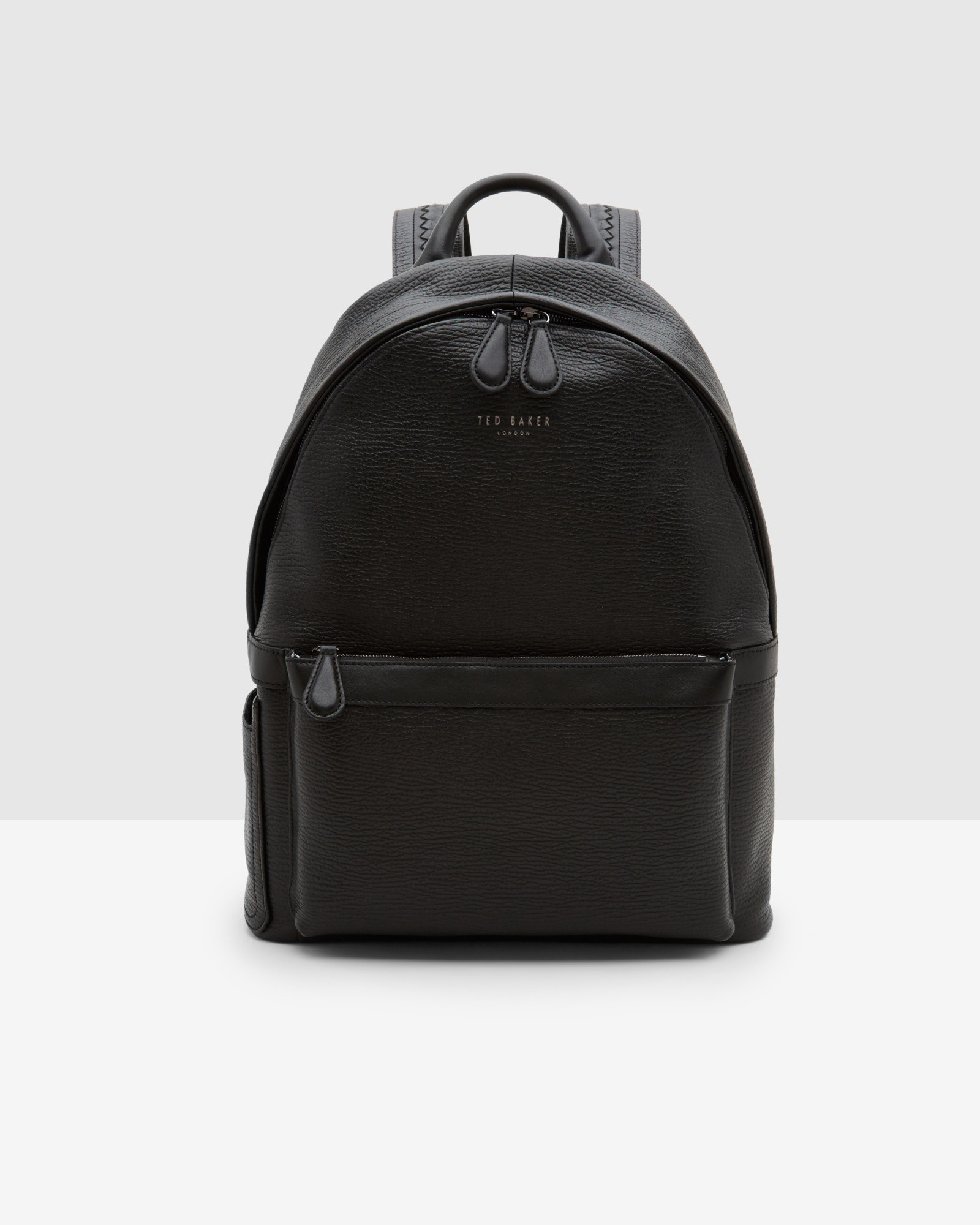 ted baker woven leather rucksack in black for men lyst. Black Bedroom Furniture Sets. Home Design Ideas