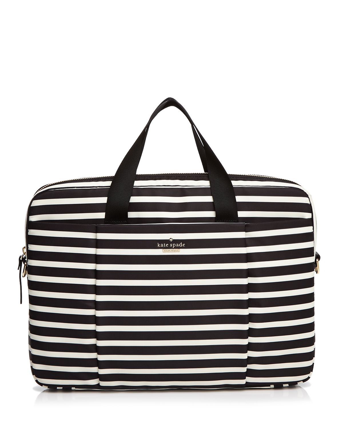 Lyst Kate Spade New York Classic Nylon Stripe Commuter 15