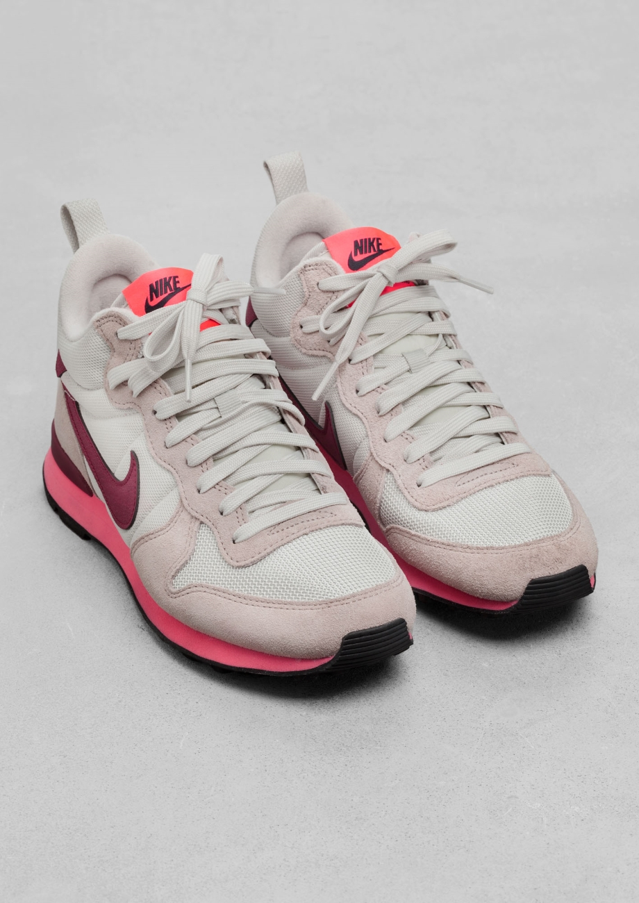 official photos 33352 9daa9   Other Stories Nike Internationalist Mid in Pink - Lyst