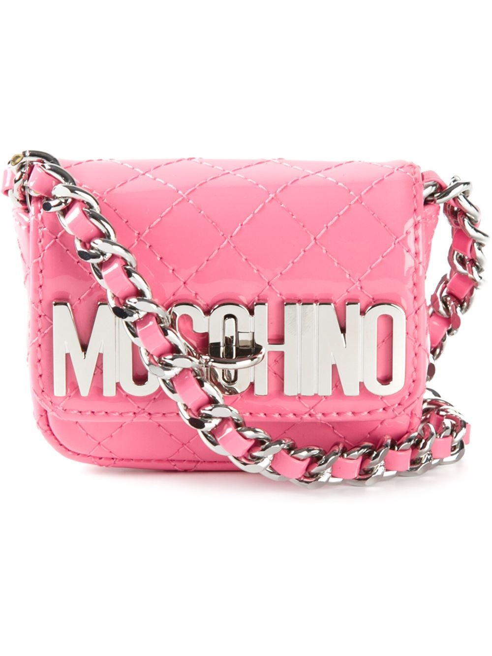 Moschino Mini Quilted Crossbody Bag In Pink Lyst