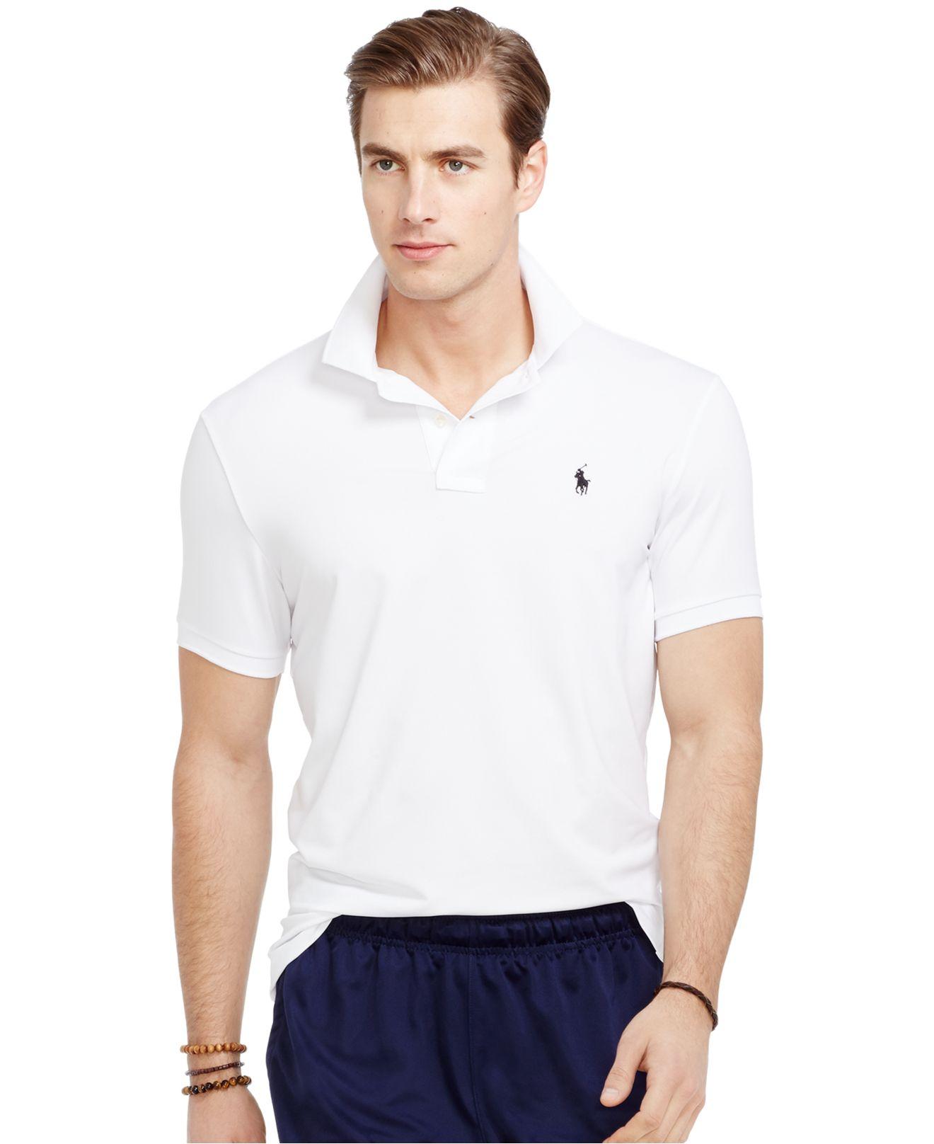 17235fe6aeb2 ... good lyst polo ralph lauren performance polo shirt in white for men  59c73 0ef30