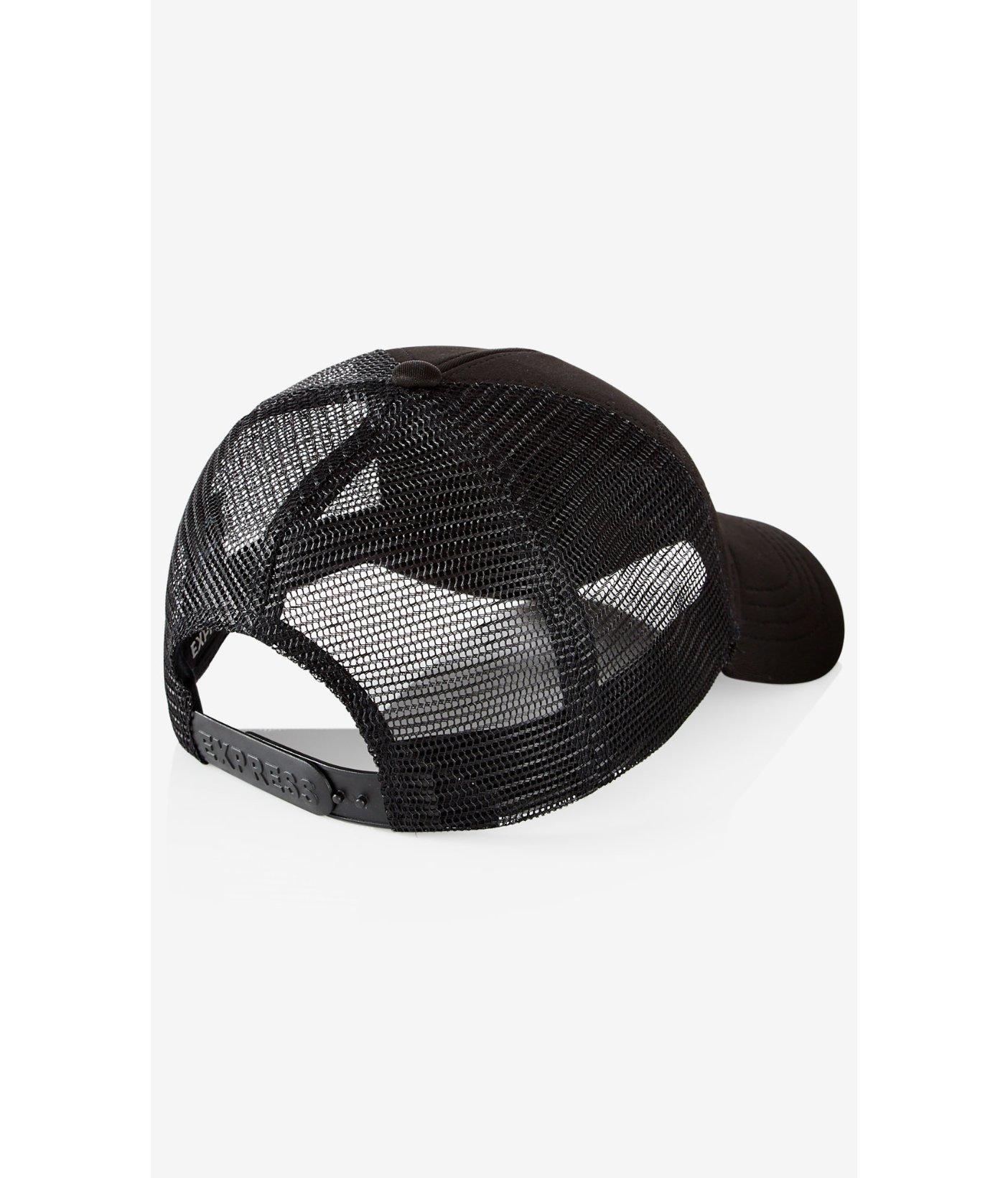 43b8d6defe4 Lyst - Express Stitched Chevron Trucker Hat in Black for Men