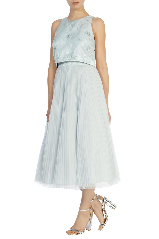 Coast Harven Midi Dress in Blue - Lyst