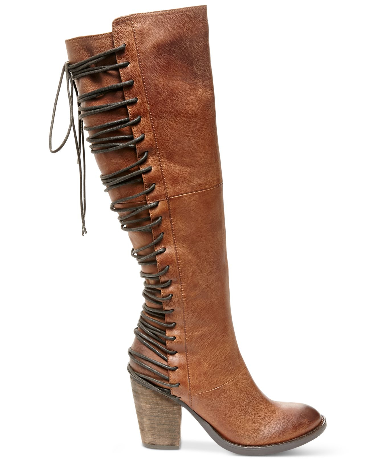 Steve madden Rickter Lace-up Boots in Brown | Lyst