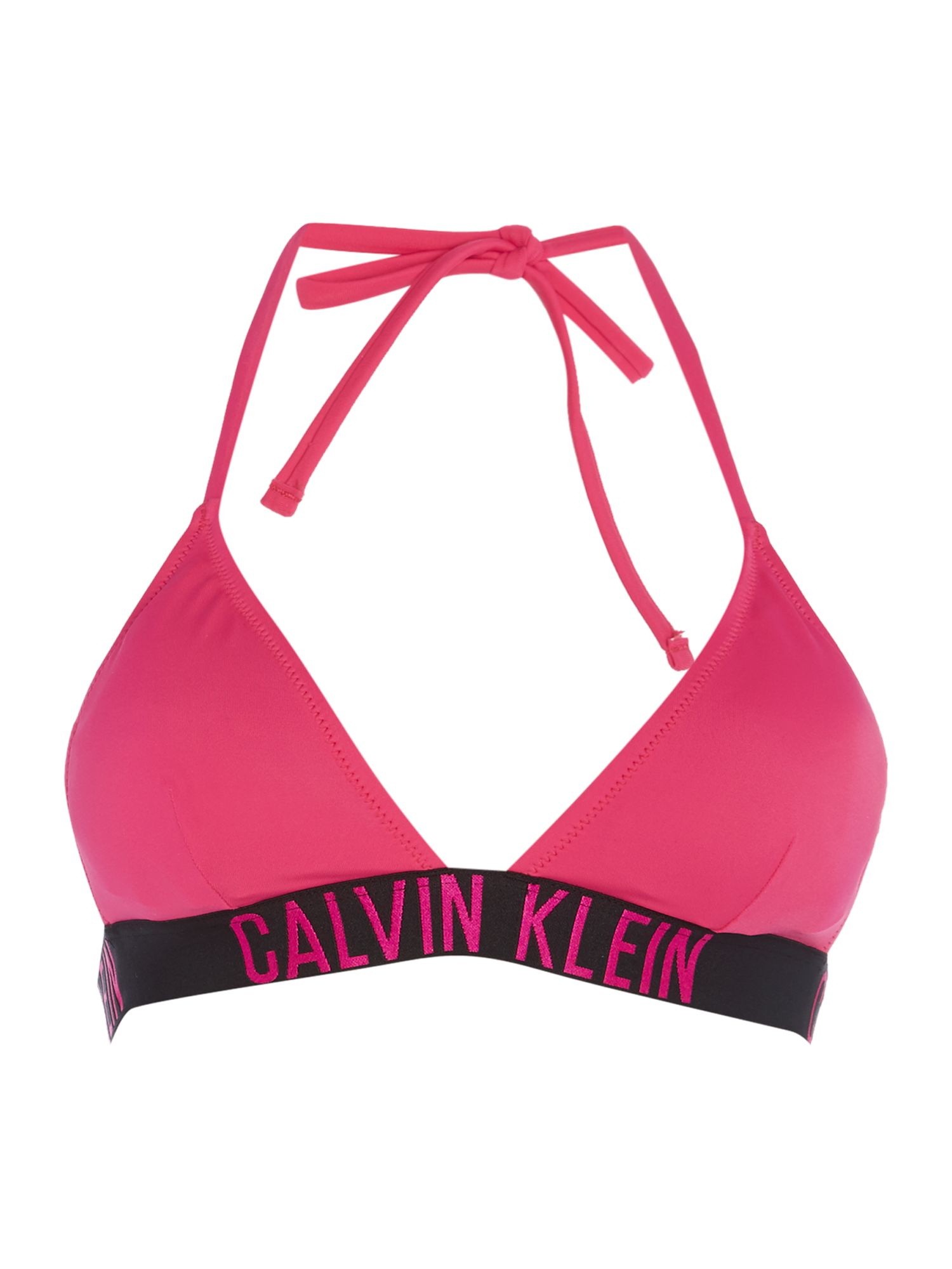 calvin klein intense power tirangle bikini top in pink lyst. Black Bedroom Furniture Sets. Home Design Ideas