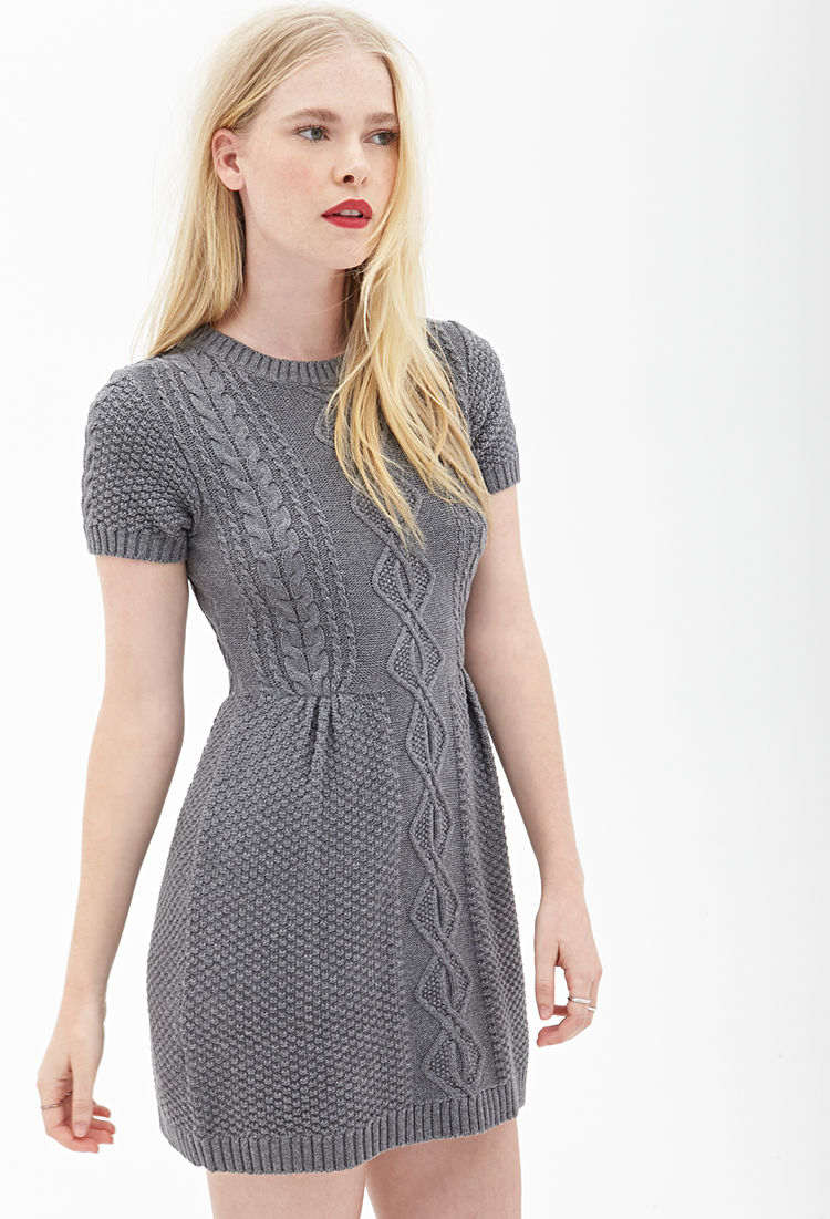 A sweater dress is the perfect choice for chillier days and is guaranteed to make you feel cozy and comfy in an instant. Dress 'em up with bare legs and heels or go lo-fi with pantyhose and chunky boots, the options are endless.