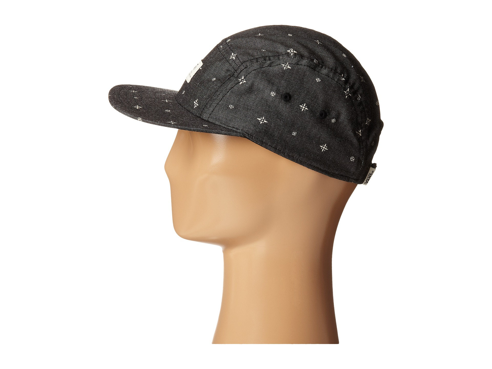 Lyst - Vans Davis 5-Panel Camper Hat in Black for Men 7b85c577213