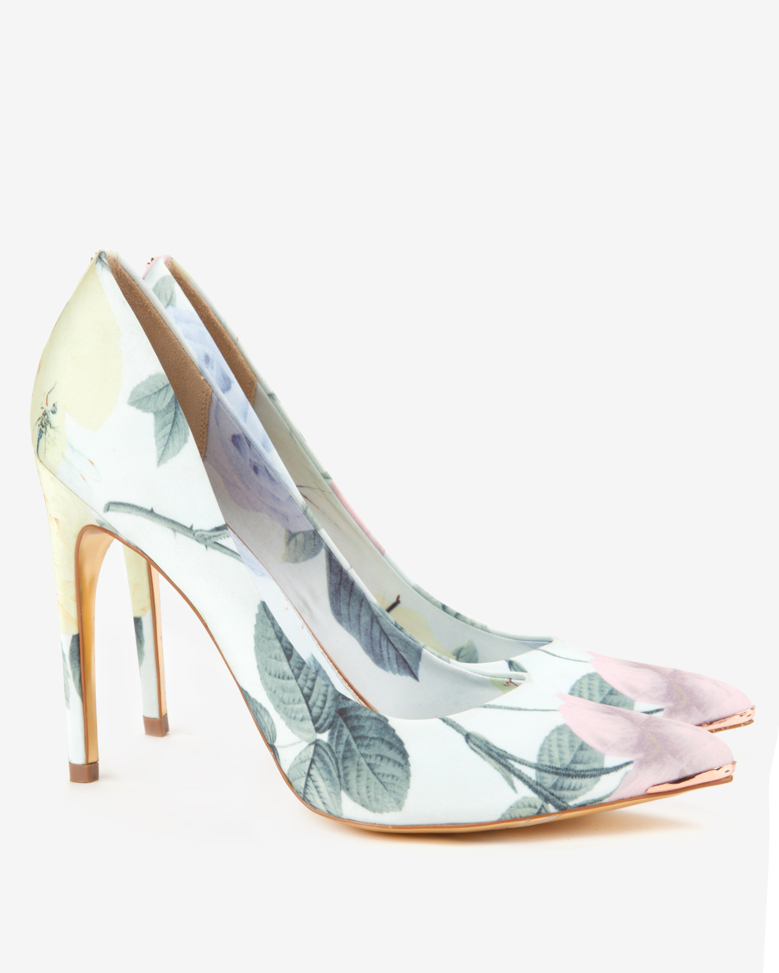 cbeb15516 Lyst - Ted Baker Printed Court Shoes in Green