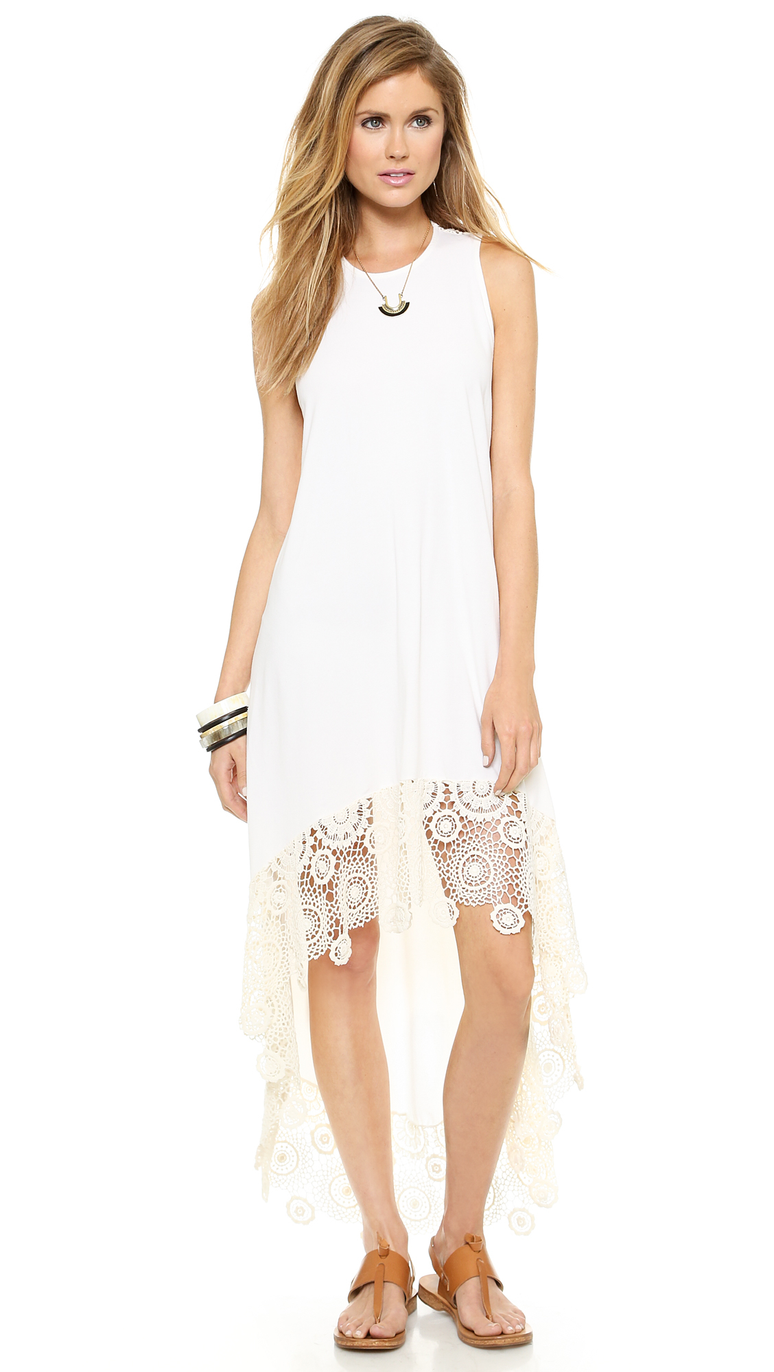 34ef56e908d02 Lyst - Nightcap Crochet Hanalei Dress - Natural in White