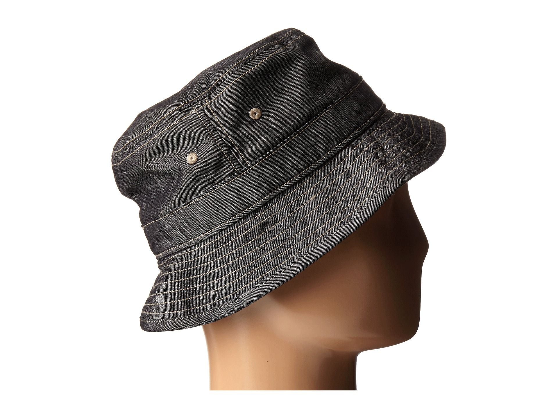 Lyst - Original Penguin Chambray Bucket Hat in Black for Men f9b16361a12