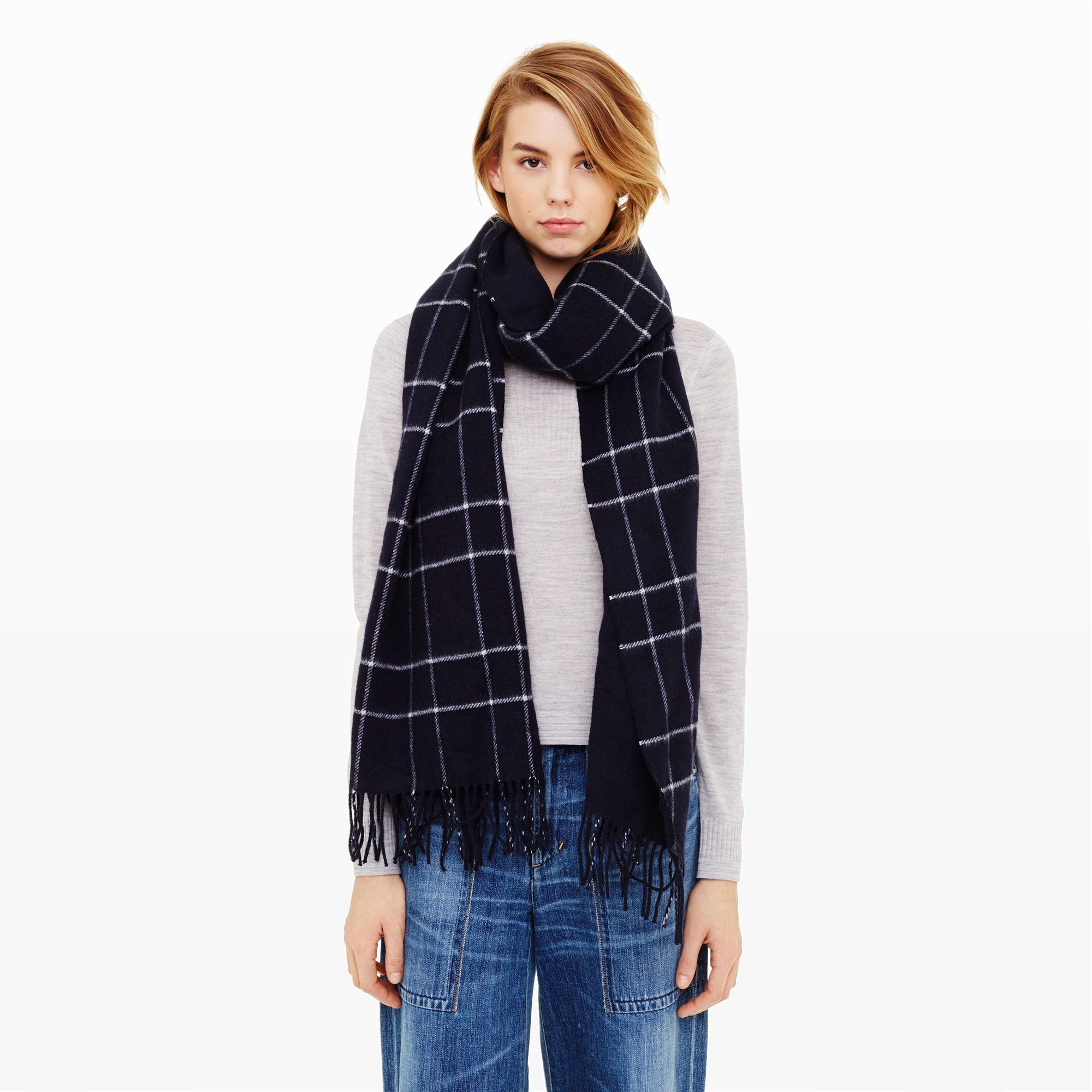 club monaco barlowe scarf in blue lyst