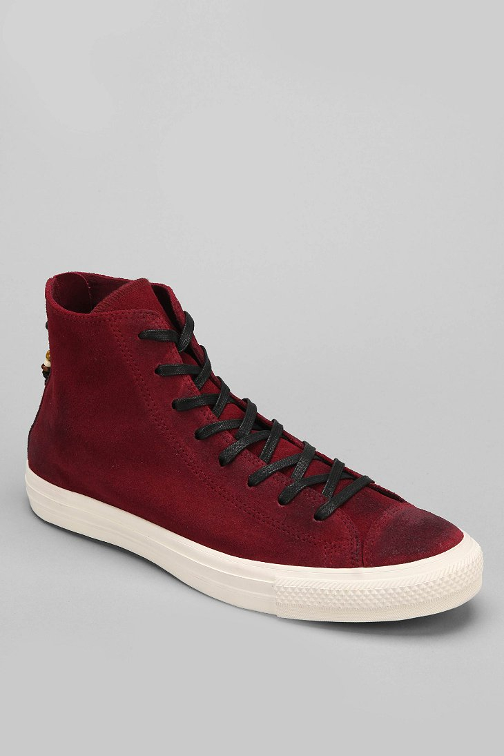 Lyst Converse Chuck Taylor All Star Heel Zip Suede High