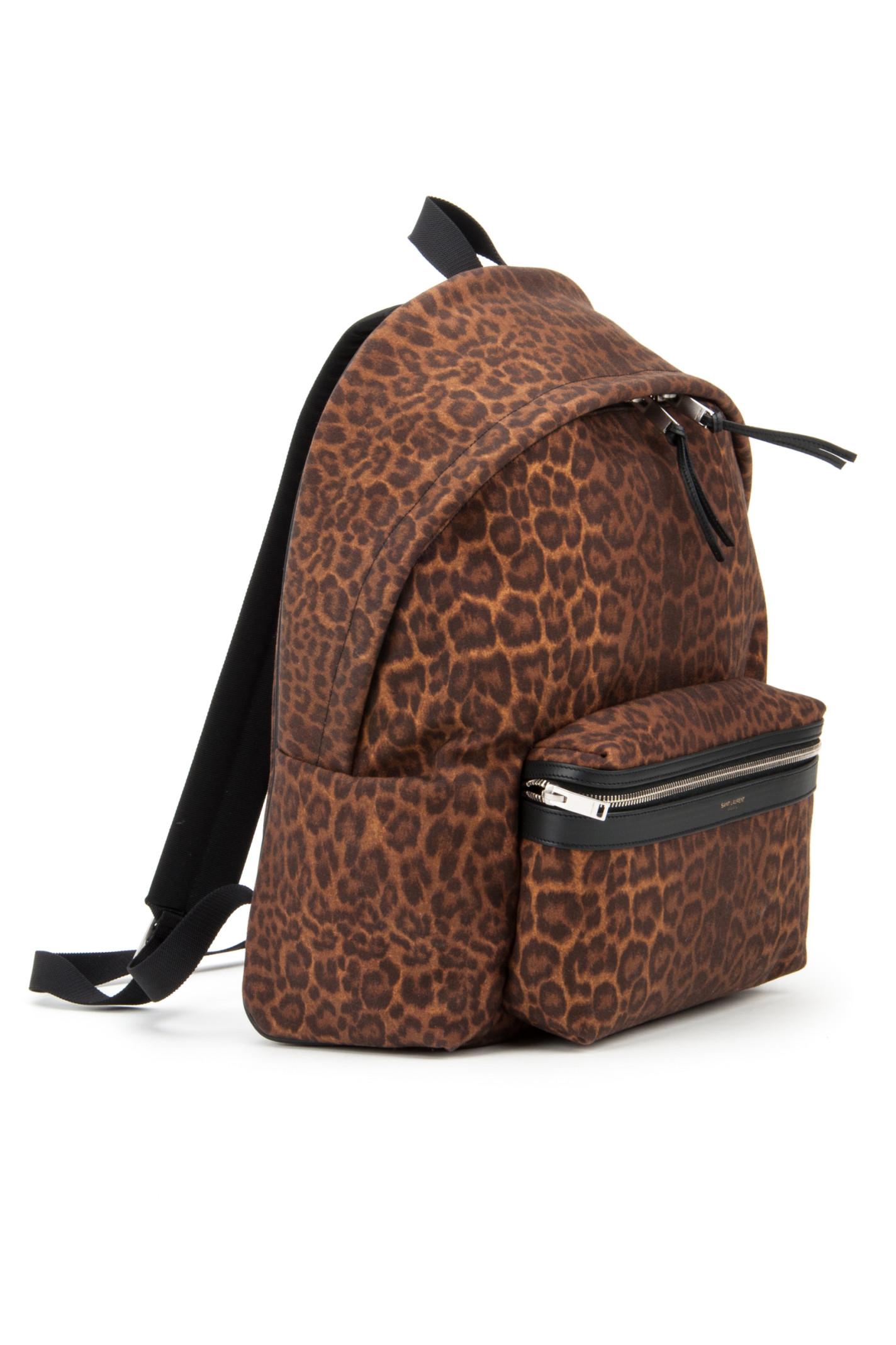 Saint laurent Ysl Hunting Line Backpack in Animal (TAN NERO) | Lyst