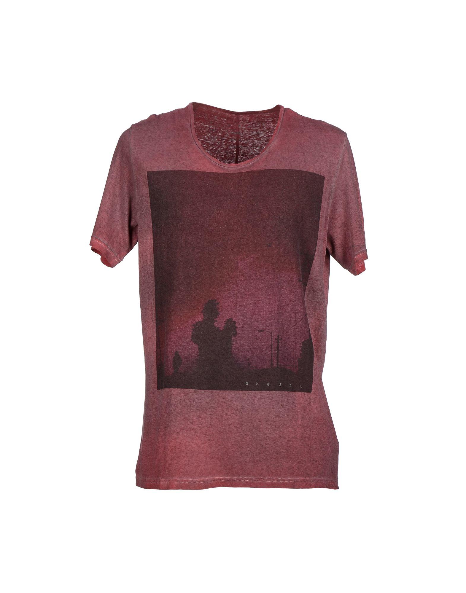diesel t shirt in purple for men lyst. Black Bedroom Furniture Sets. Home Design Ideas