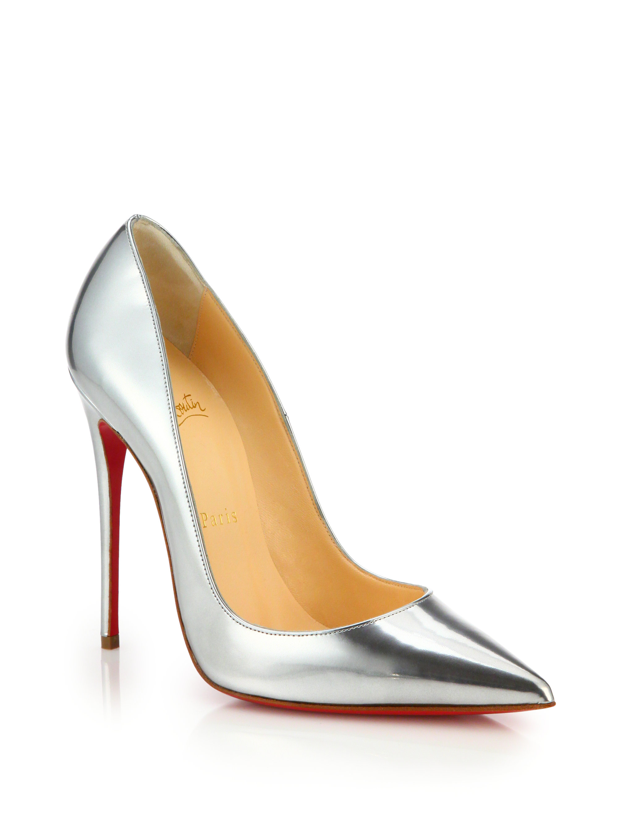 42f0074d8 sweden lyst christian louboutin womens so kate pumps in metallic e621b 48f7d