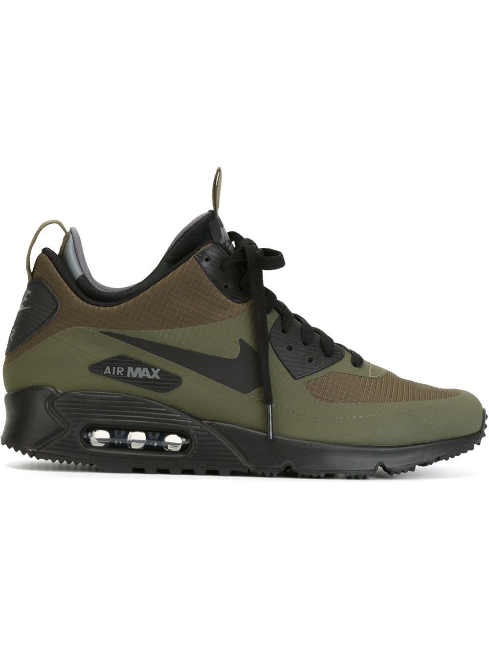 nike air max 90 mid winter sneaker boots in green for men. Black Bedroom Furniture Sets. Home Design Ideas