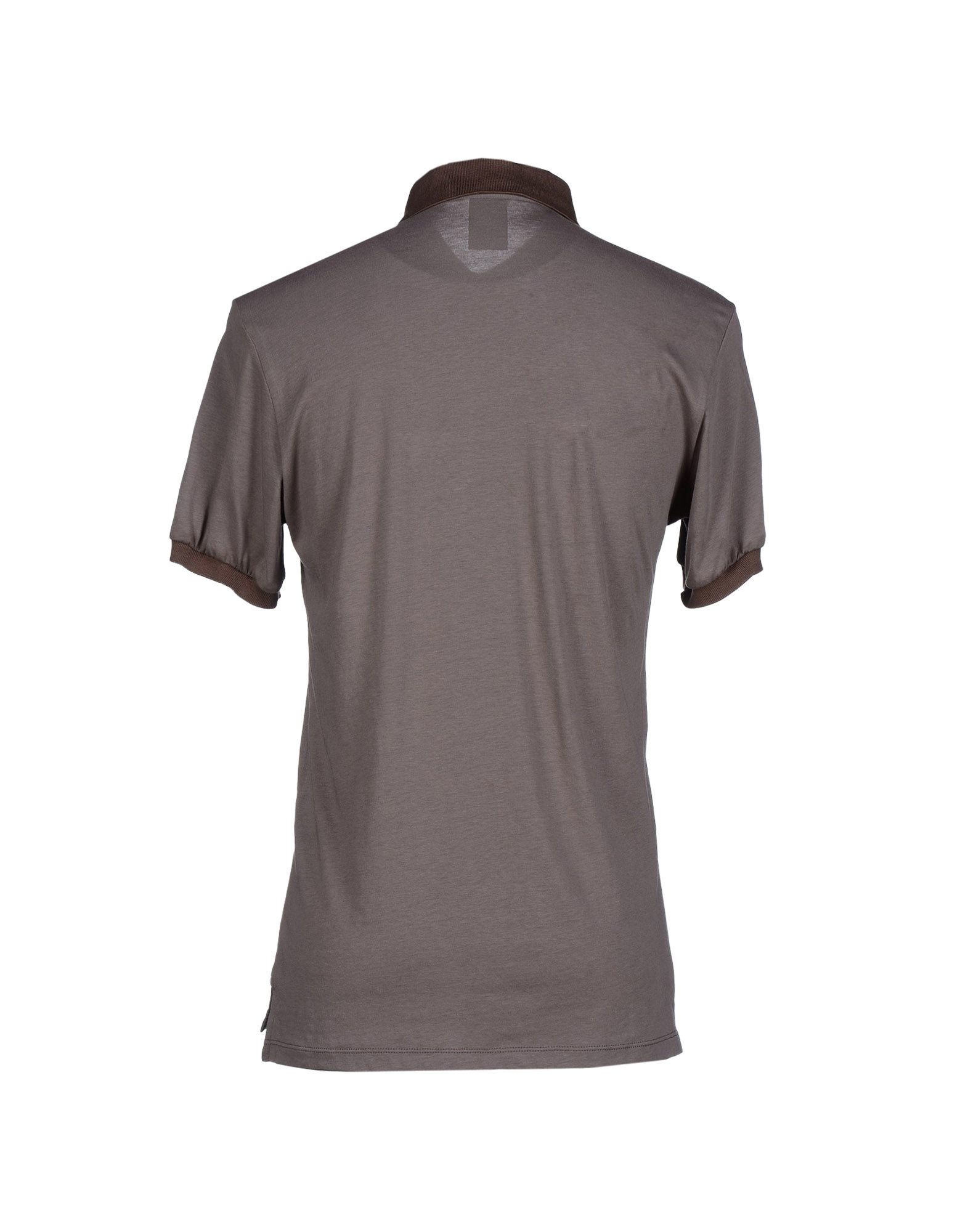 Lyst john galliano polo shirt in brown for men for Black brown mens shirts