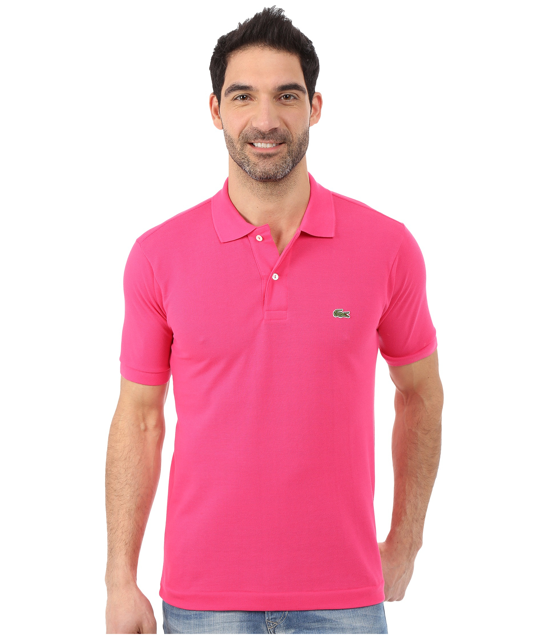 1c8a4dde79d Lacoste L1212 Classic Pique Polo Shirt in Pink for Men - Lyst