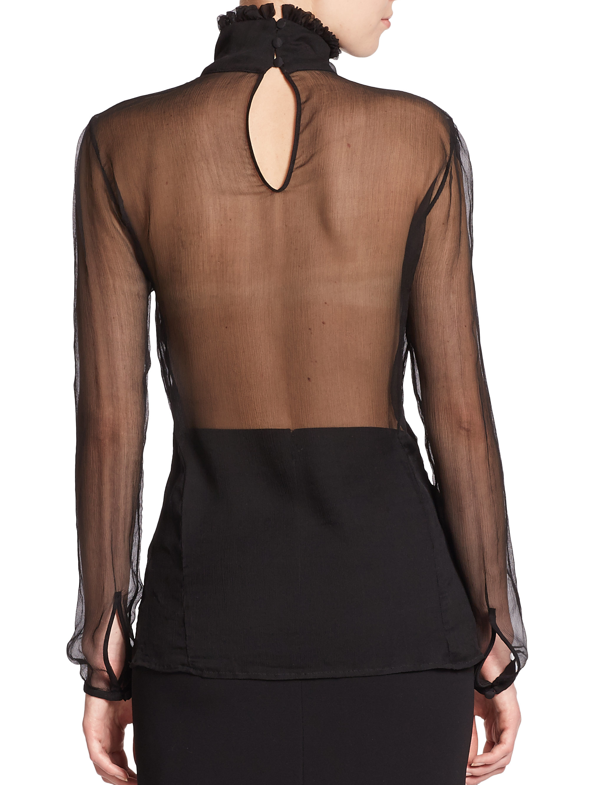 Blouse In Picture Sheer Woman 110