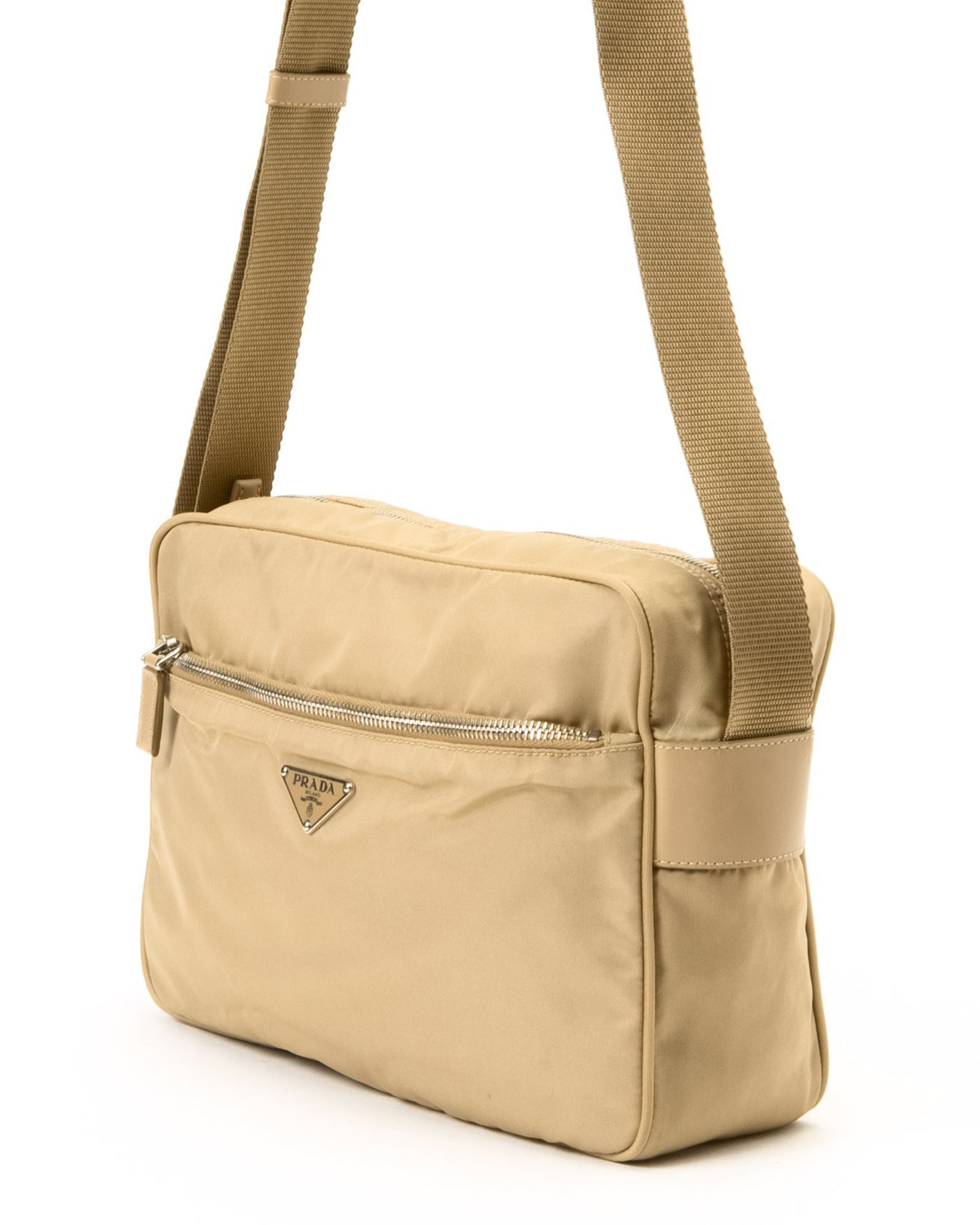 Prada Tessuto Shoulder Bag - Vintage in Beige | Lyst