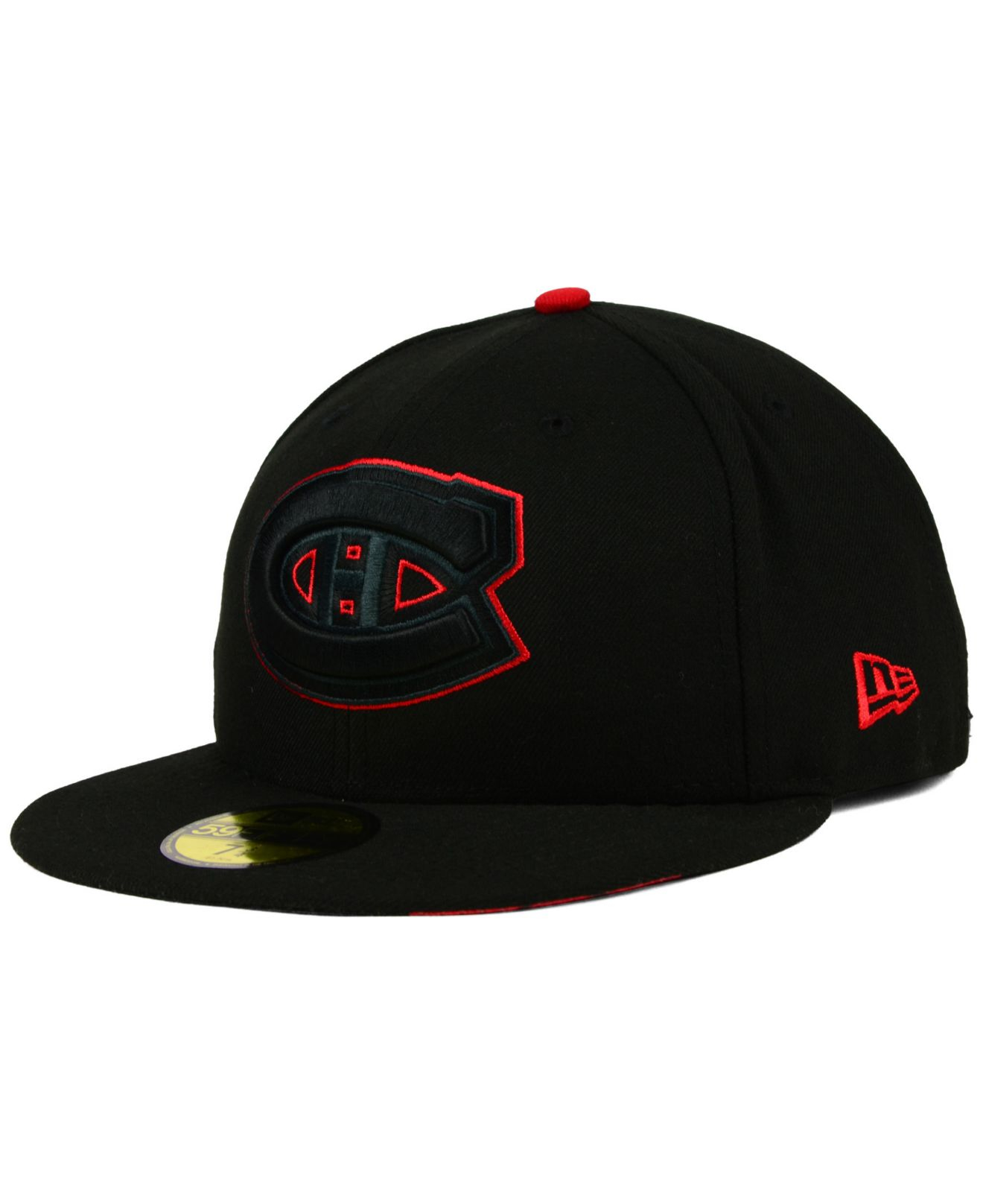 brand new d3e61 2a375 ... norway lyst ktz montreal canadiens pop flip 59fifty cap in black for  men 4a635 91df8
