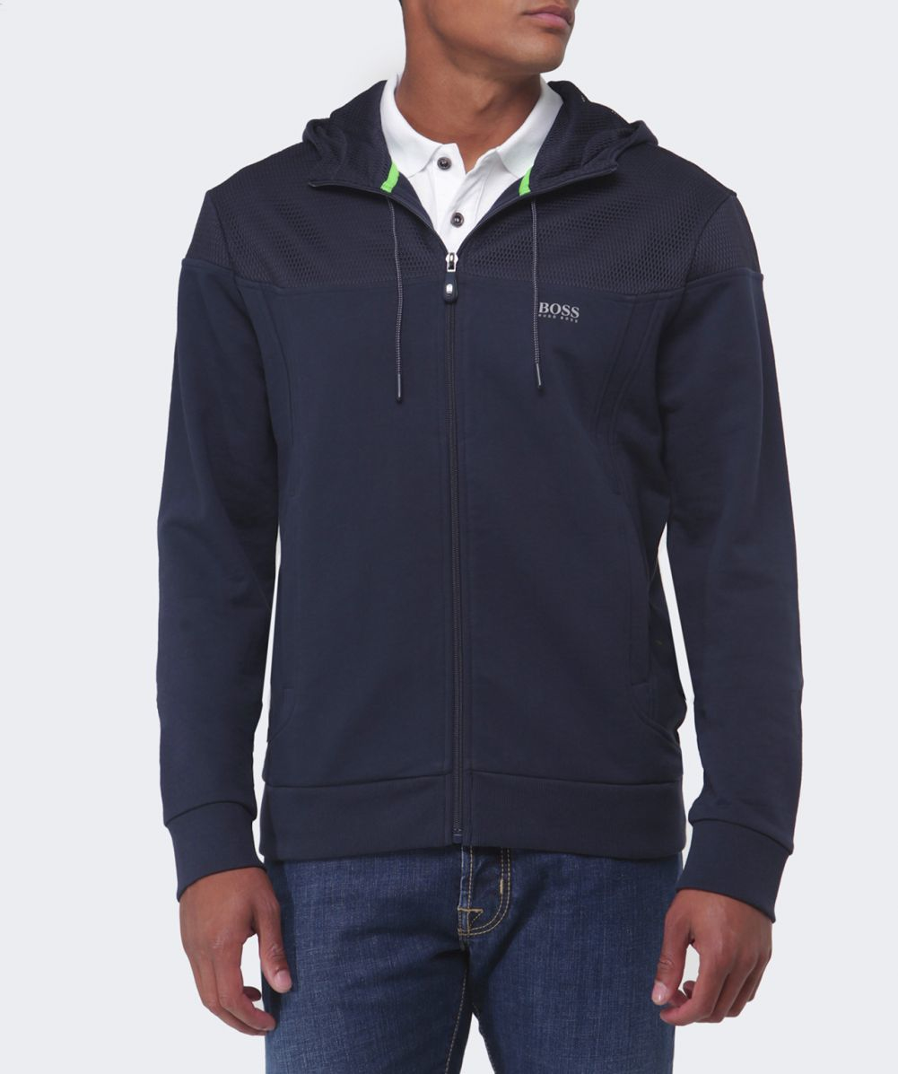 8f720ee5 hugo boss black full zip hooded jumper navy   Teduh Hostel