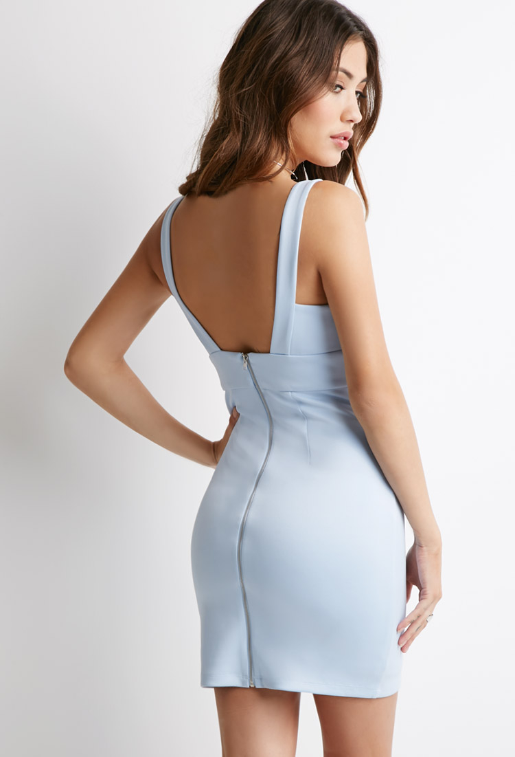 Forever 21 Cutout Bodycon Dress in Blue