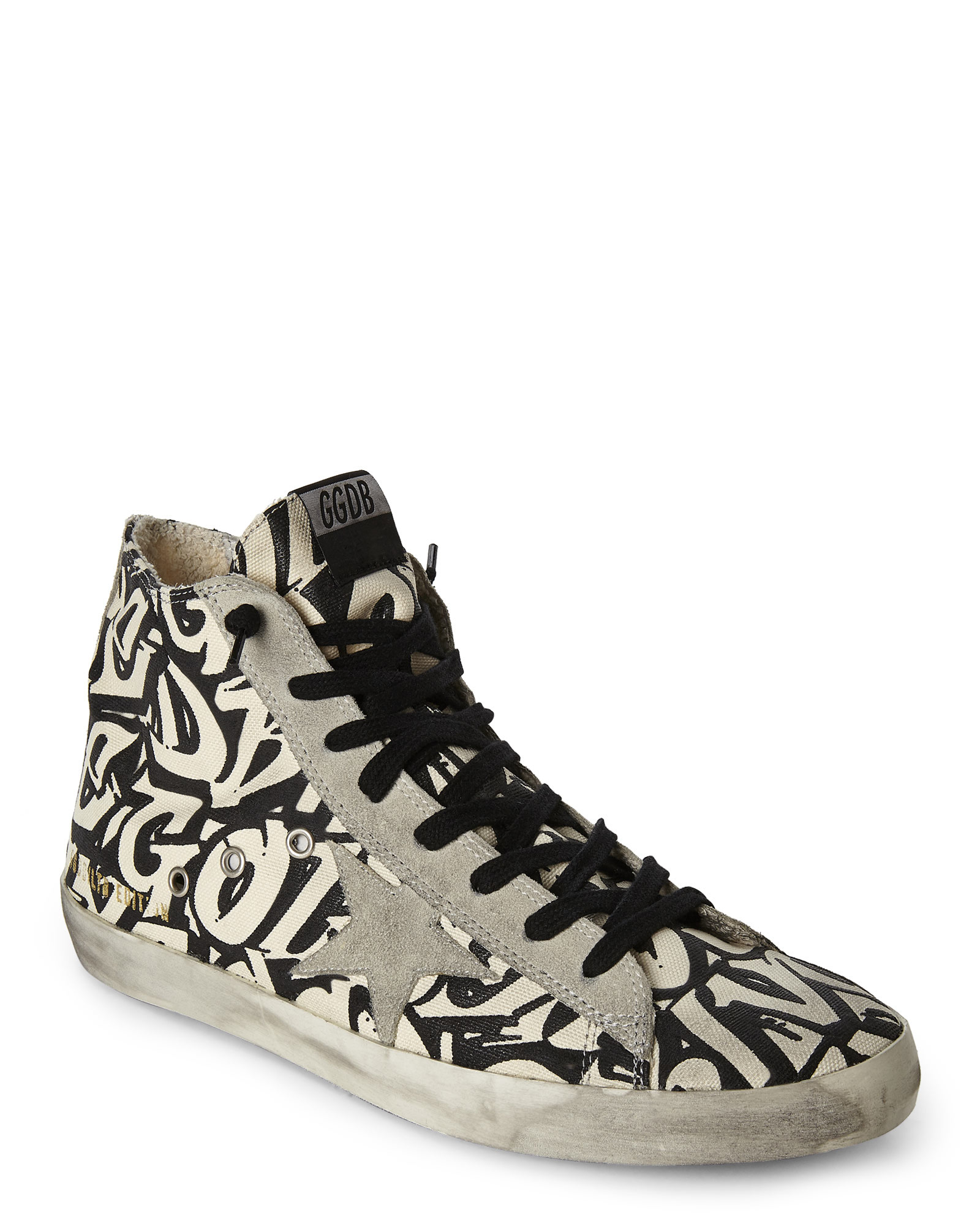 White and Purple Francy High-Top Sneakers Golden Goose TNaGwv50Hy