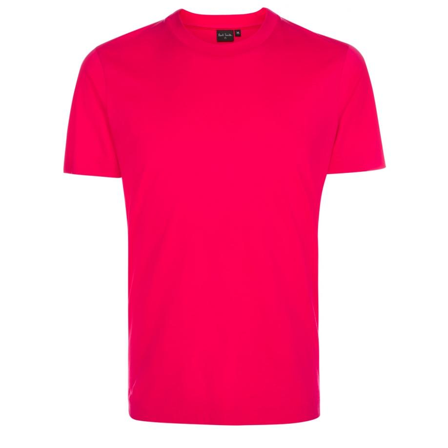 Paul smith men 39 s fuchsia supima cotton t shirt in pink for for Mens pink shirts uk
