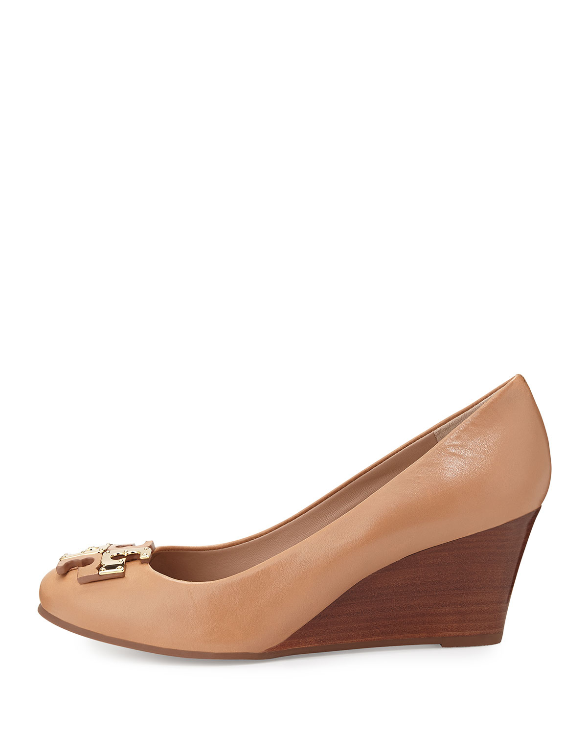 660479d30 Tory Burch Lowell New Logo Wedge Pump in Brown - Lyst
