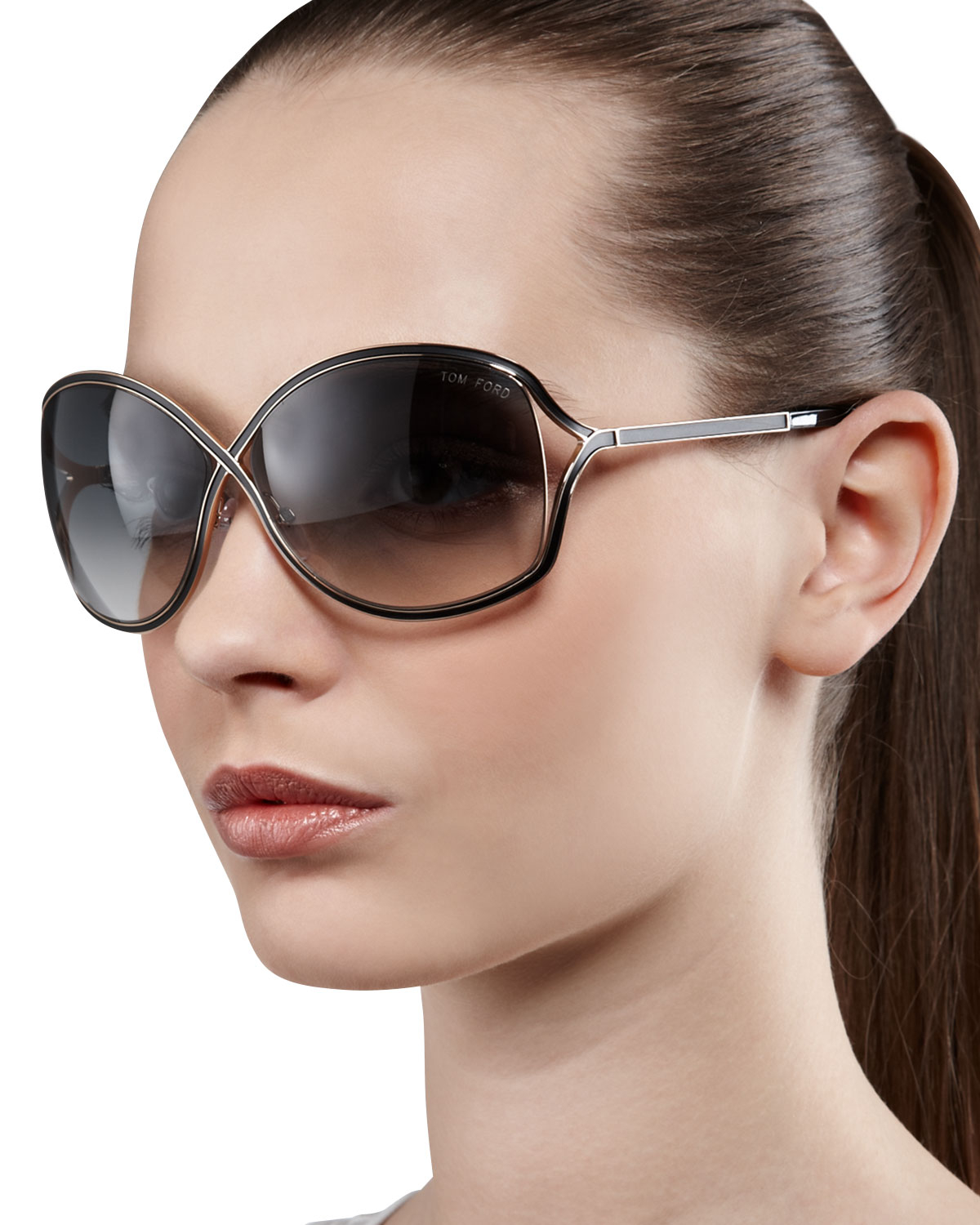 82cf3e77ab Tom Ford Rickie Round Open-Temple Sunglasses in Pink - Lyst