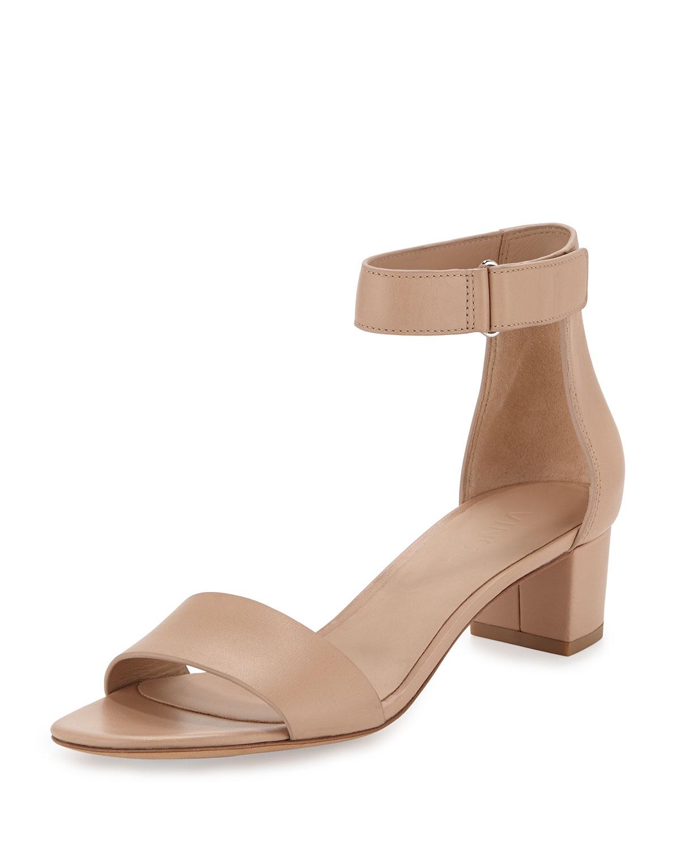 3a24eb8f309 Lyst - Vince Rita Leather Block-Heel Sandal in Brown