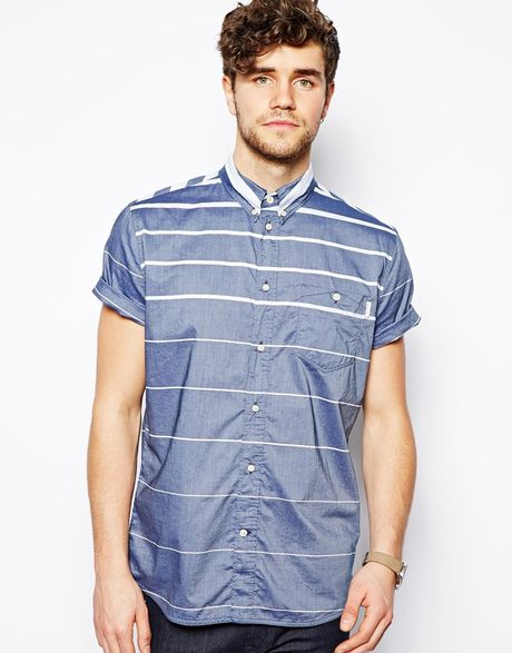 Paul smith shirt with horizontal stripe standard fit in for Horizontal striped dress shirts men