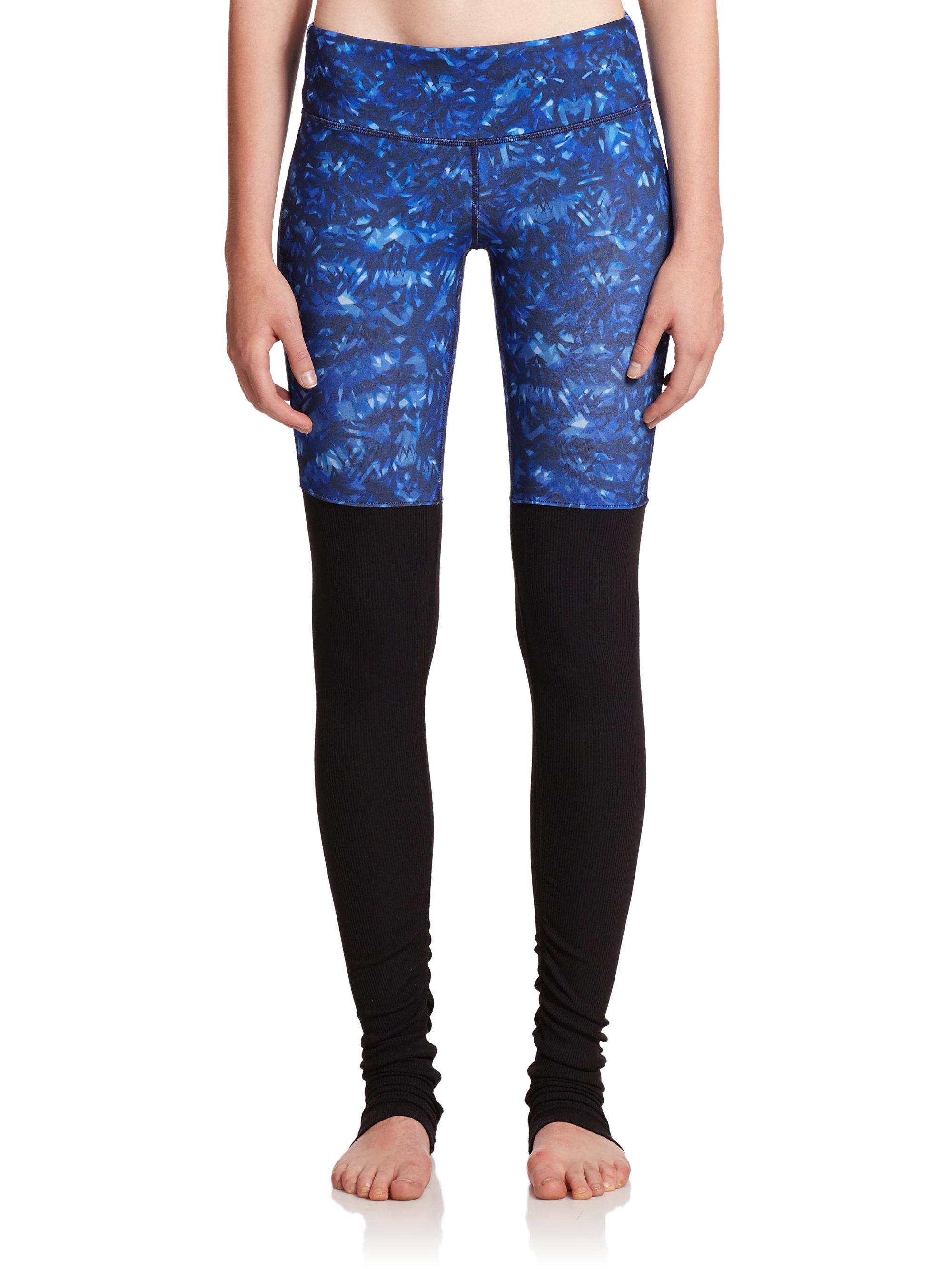 Lyst Alo Yoga Goddess Ribbed Leggings In Blue