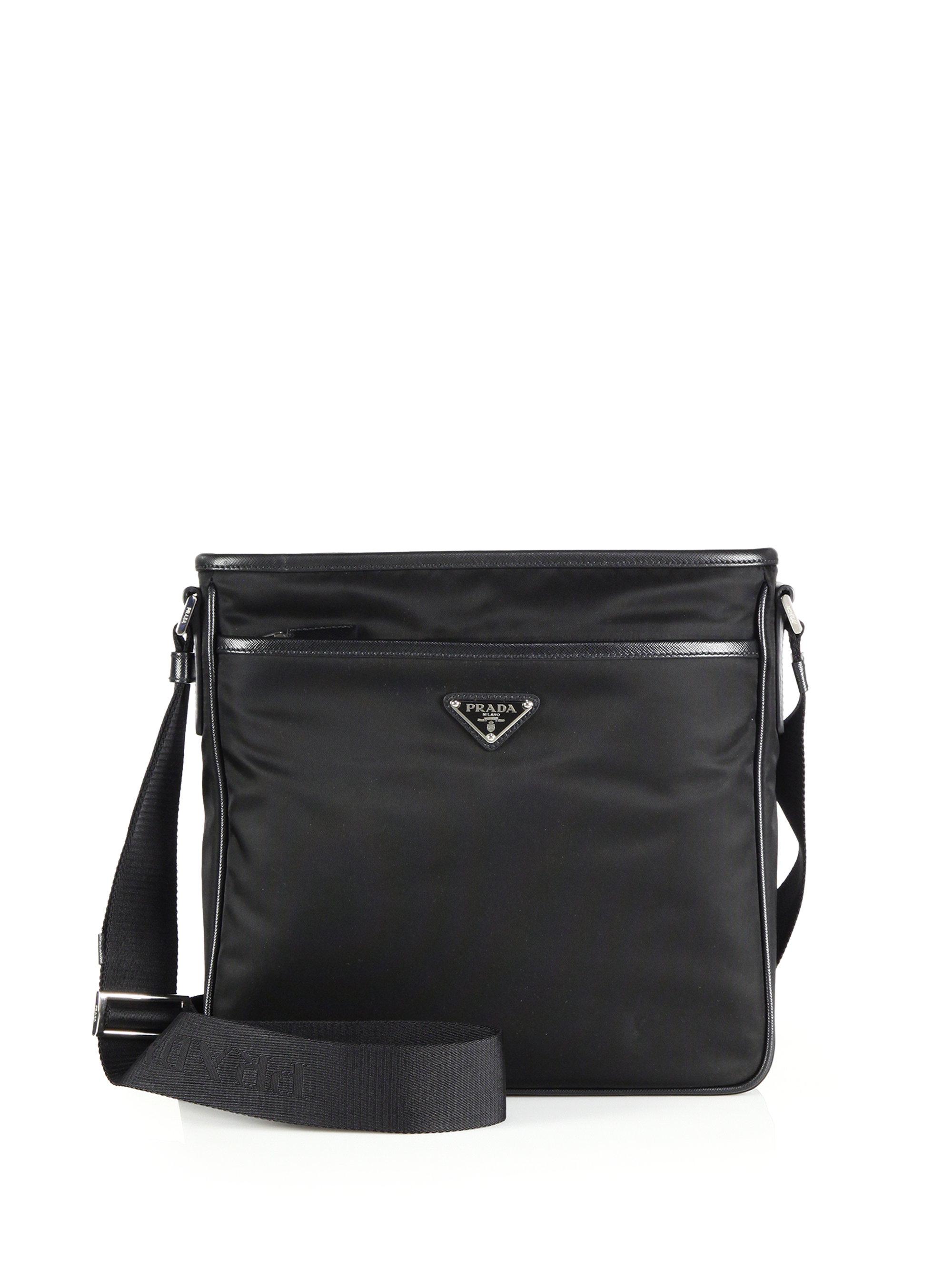 8f086262df Lyst - Prada Nylon Crossbody Bag in Black for Men